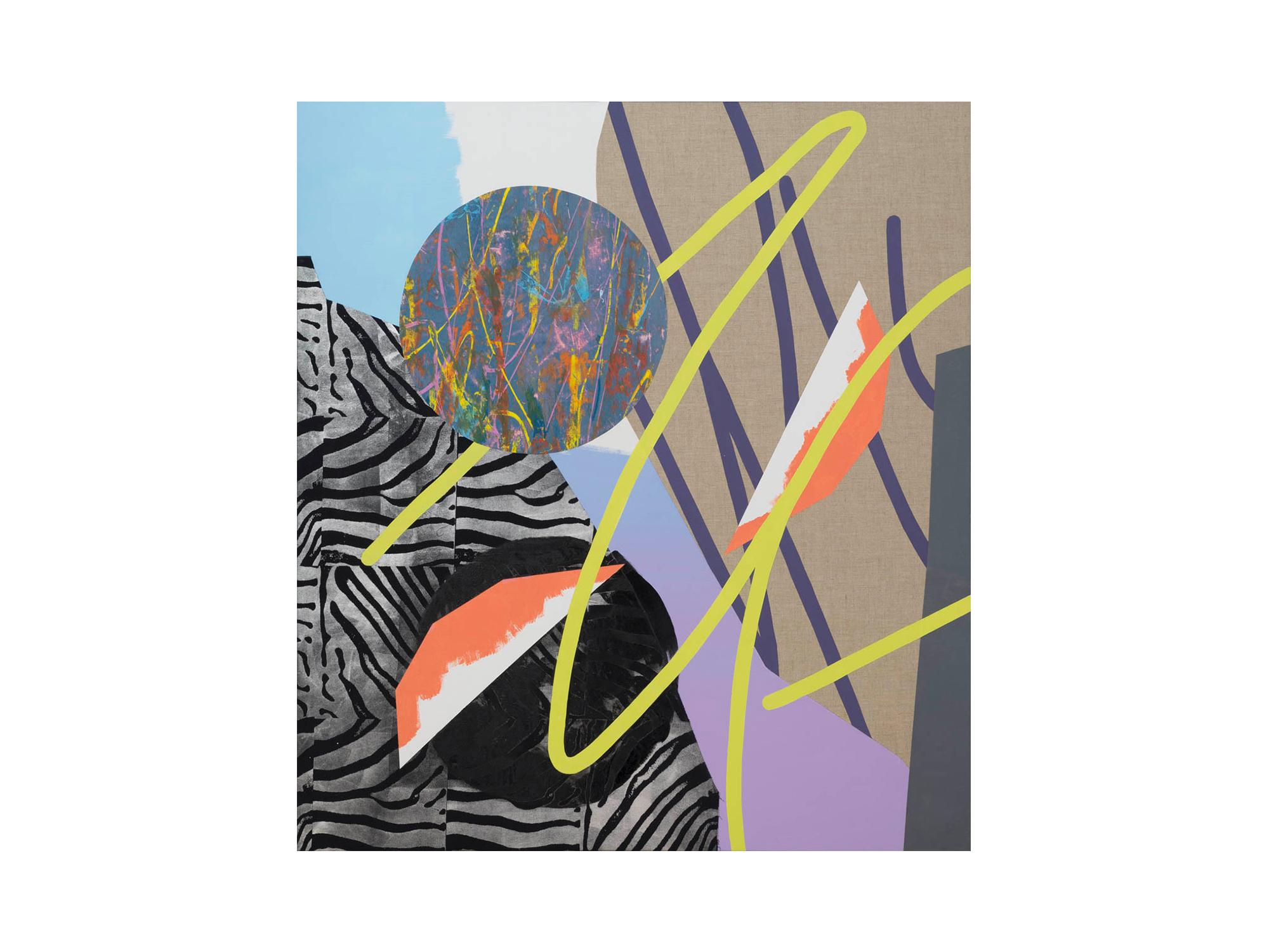 Marc Freeman   Media Mix #1 , 2016 mixed media on canvas 153 x 164cm   ARTIST BIO