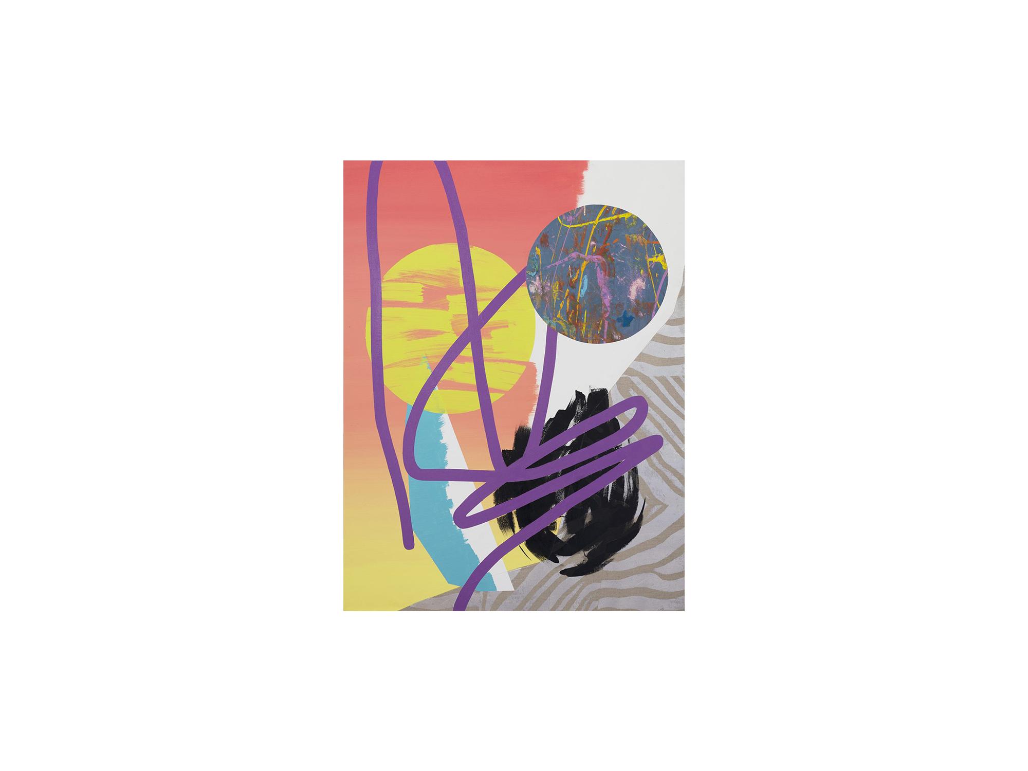 Marc Freeman   Temporal Measure #1 , 2016 mixed media on canvas 120 x 90cm   ARTIST BIO