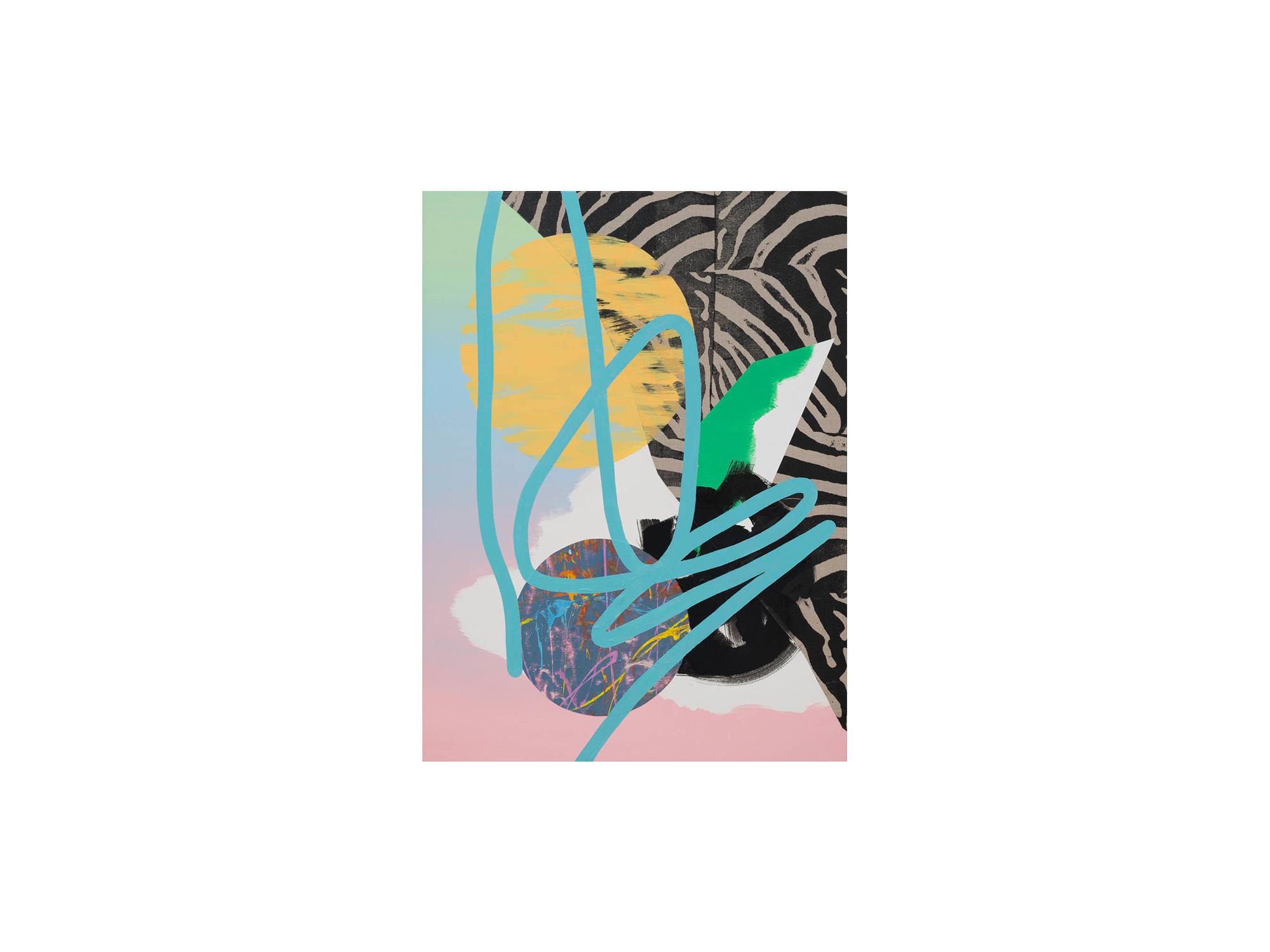Marc Freeman   Temporal Measure #3 , 2016 mixed media on canvas 120 x 90cm   ARTIST BIO