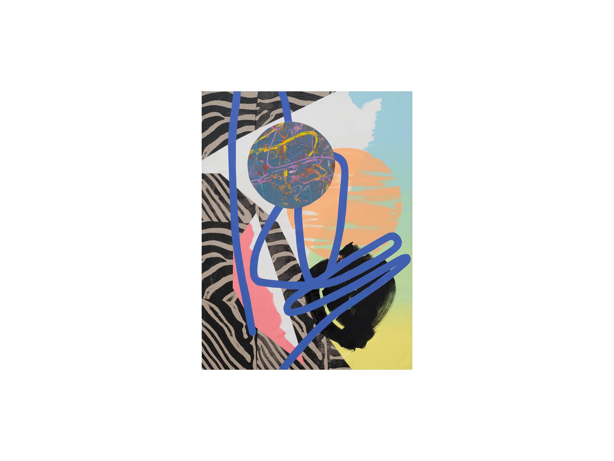 Marc Freeman   Temporal Measure #4 , 2016 mixed media on canvas 120 x 90cm   ARTIST BIO