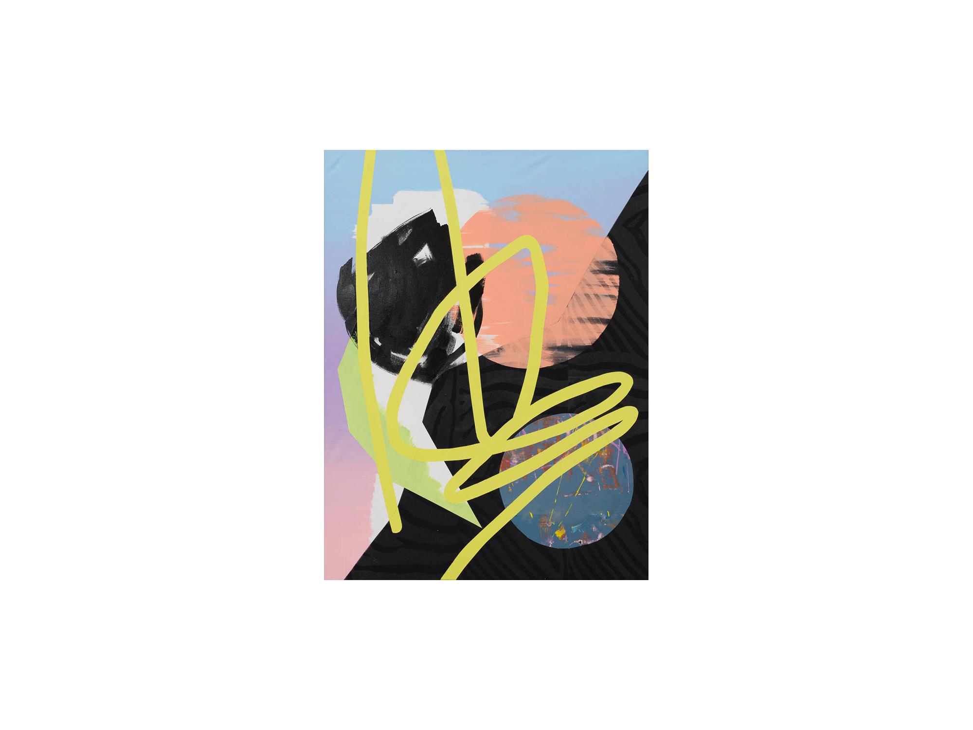 Marc Freeman   Temporal Measure #2 , 2016 mixed media on linen 120 x 90cm   ARTIST BIO