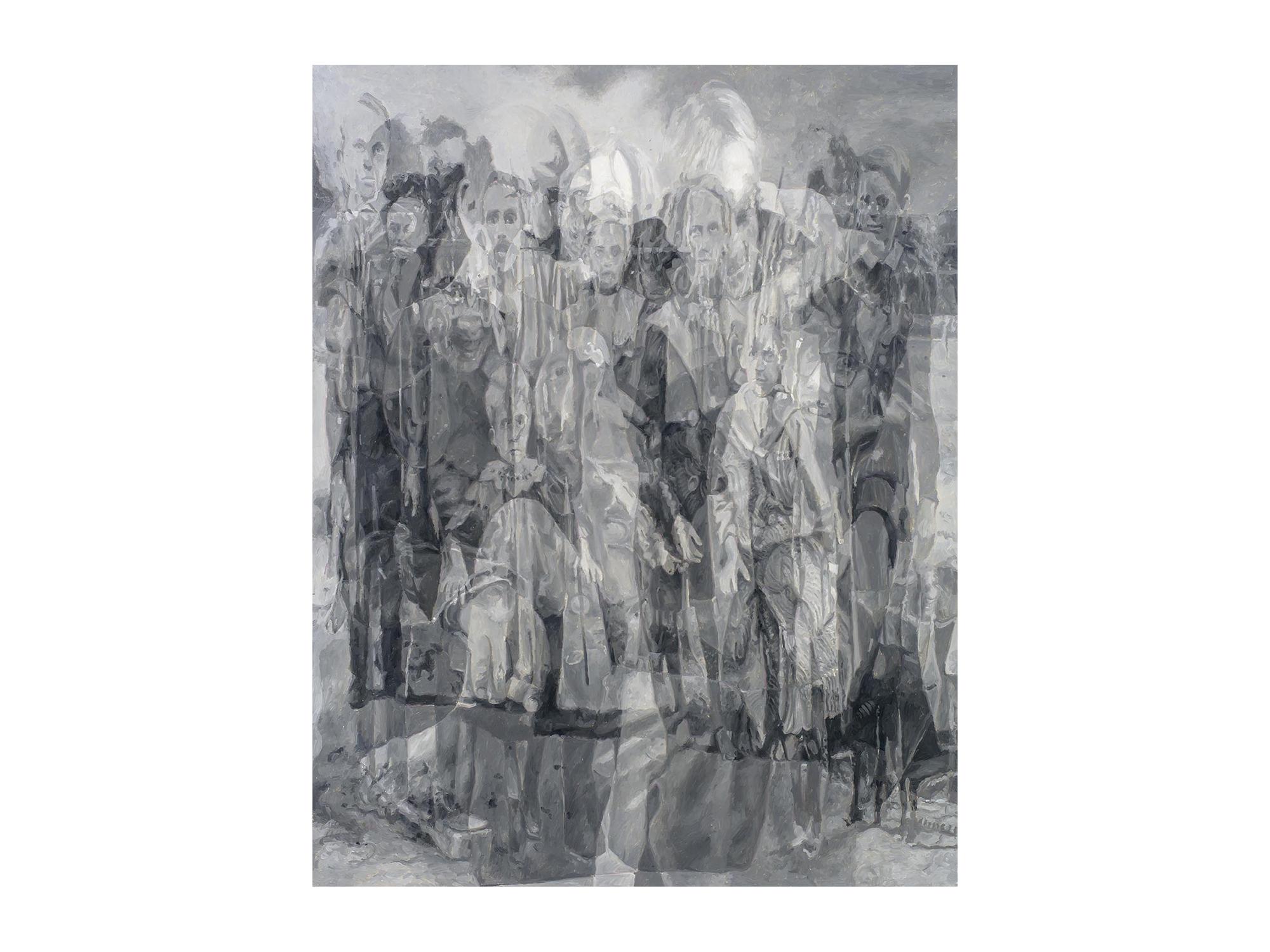 Julie Fragar    Intergenerational (Fraga/Fragar) , 2016 oil on board 92 x 72cm   ARTIST BIO