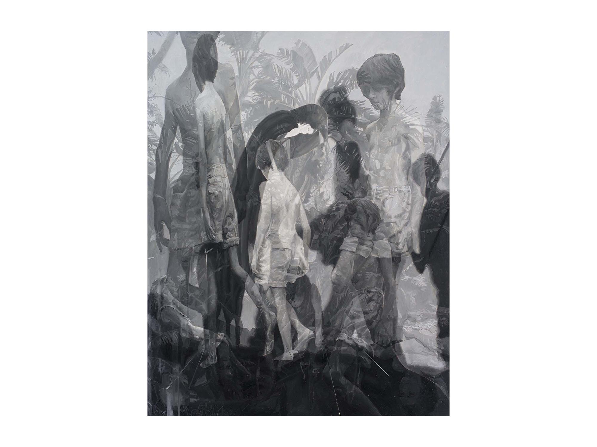 Julie Fragar    Fade to Australia (Hugo and Antonio) , 2016 oil on board 92 x 72cm   ARTIST BIO