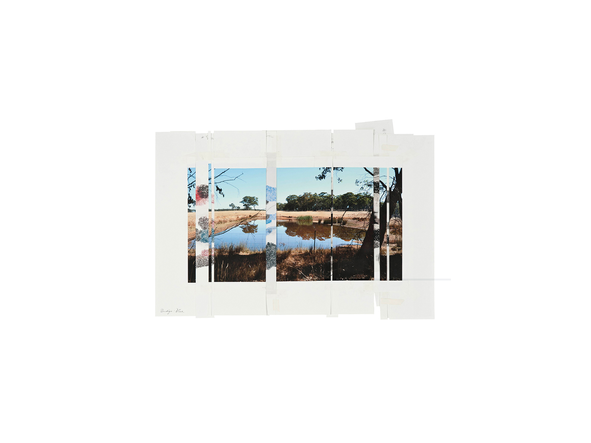 Denise Green   Bendigo Blue , 2015 one photograph and six drawings 46.7 x 60.5cm   ARTIST BIO