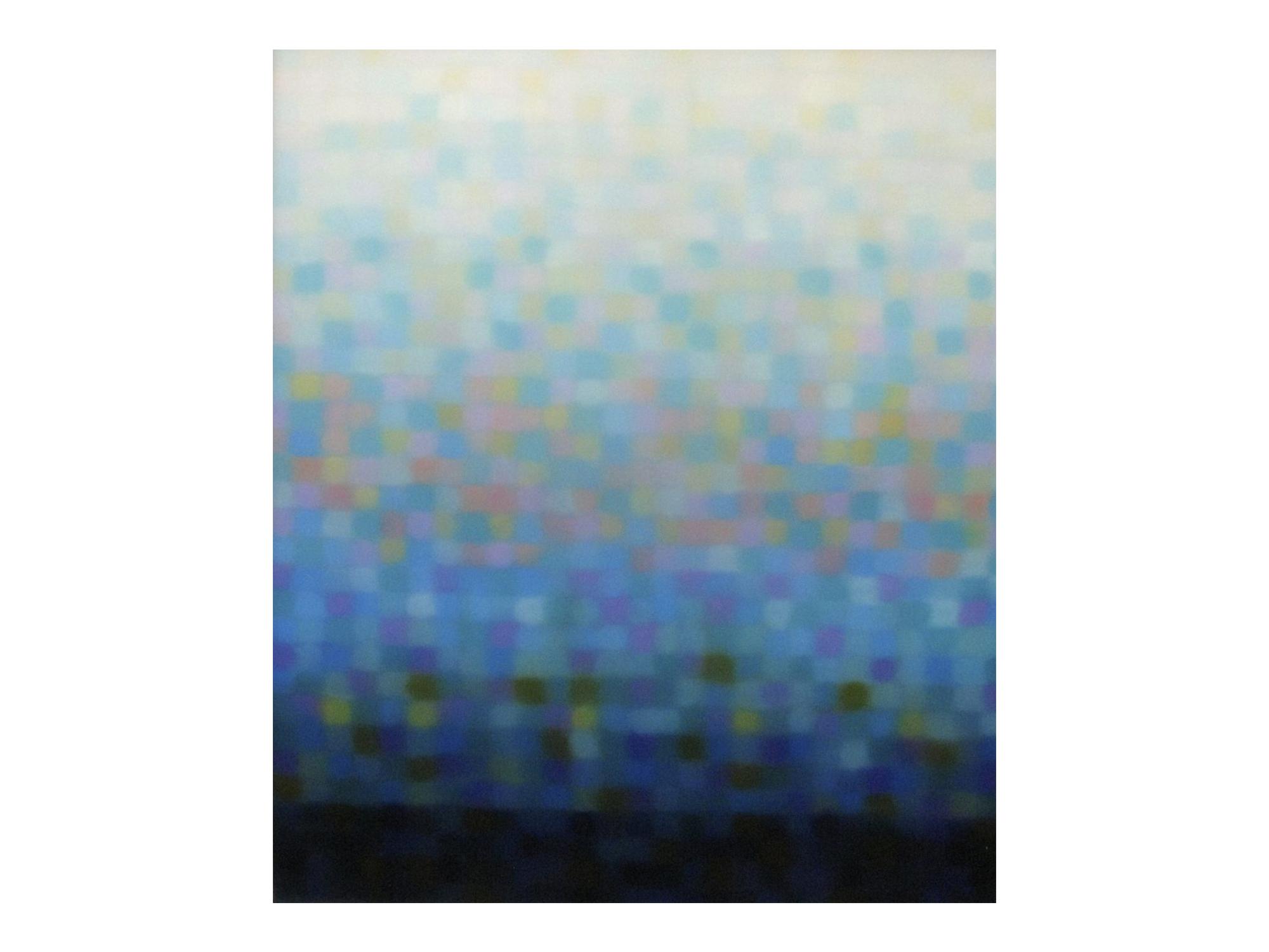 Matthew Johnson    Stratum Aqua II , 2014 oil on linen 13 x 11cm   ARTIST BIO
