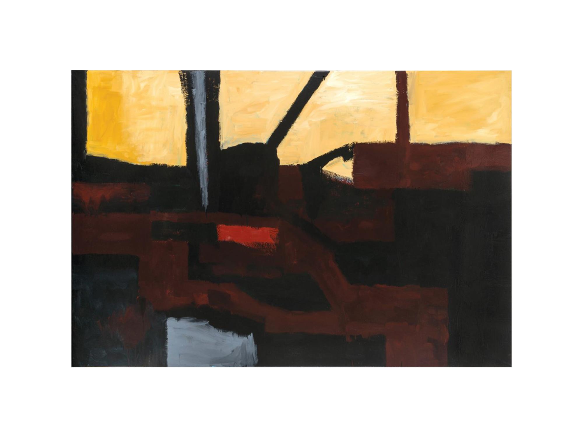 James Clayden   Railway , 2016 enamel on canvas 152 x 229cm   ARTIST BIO