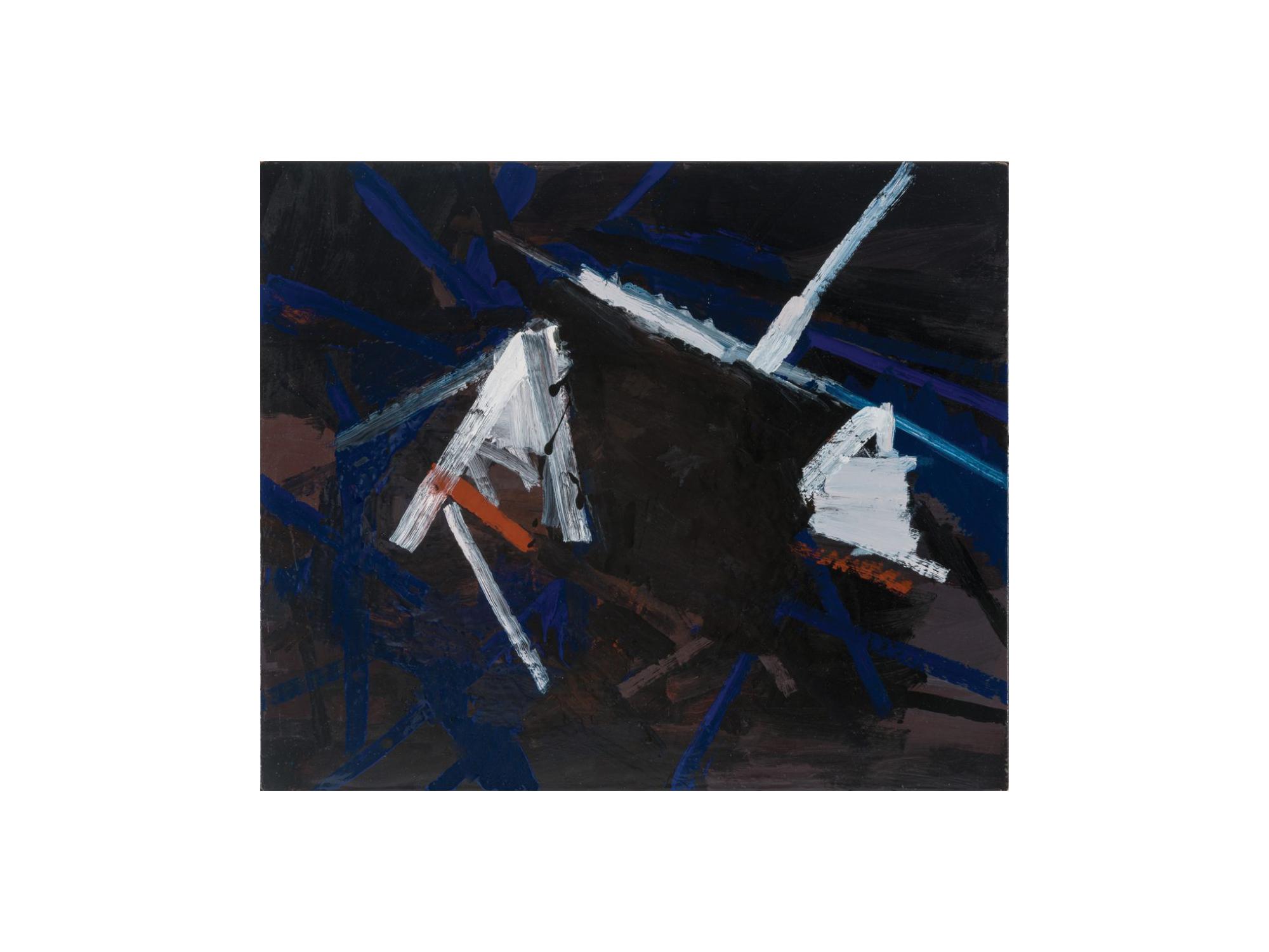 James Clayden   Tunnel , 2016 enamel on board 38 x 45cm   ARTIST BIO