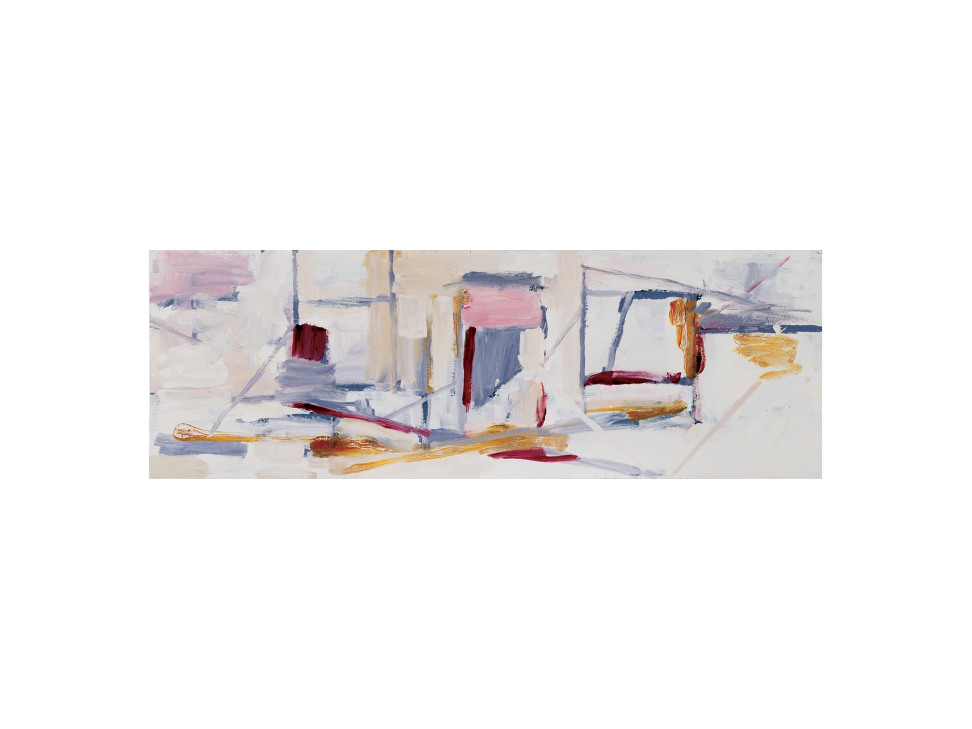 James Clayden   Station , 2016 enamel on board 32 x 92cm   ARTIST BIO