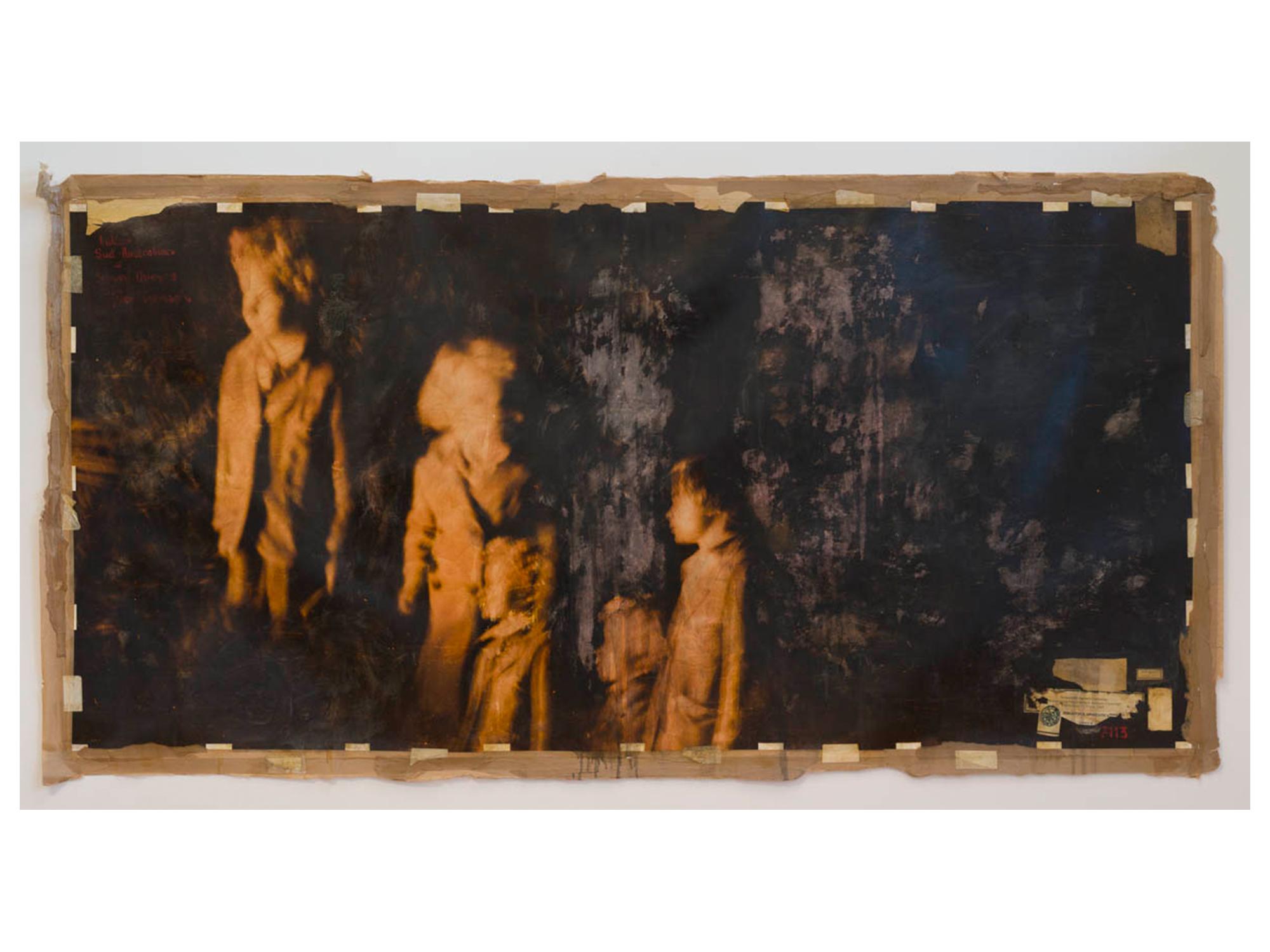 Bernhard Sachs   Honey Thieves (After Cranach) , 2016 oil, mixed media on digital print 120 x 240cm   ARTIST BIO