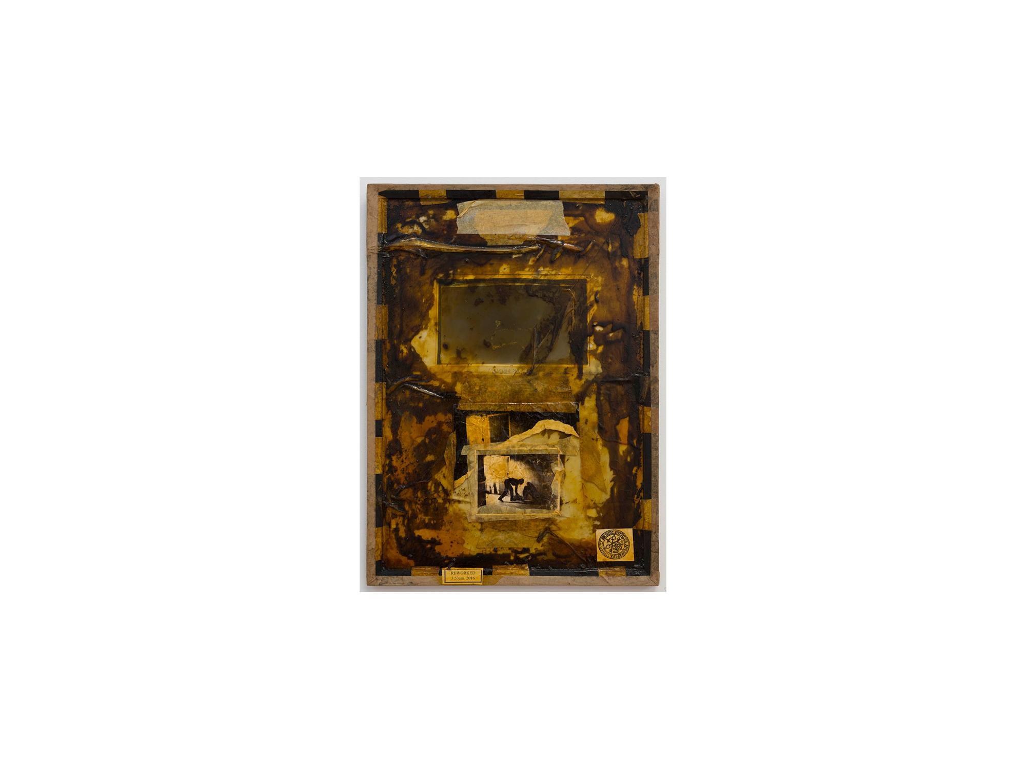 Bernhard Sachs   Untitled (Weltsinneslust) , 2016 mixed media on paper and framed glass 64 x 44c   ARTIST BIO