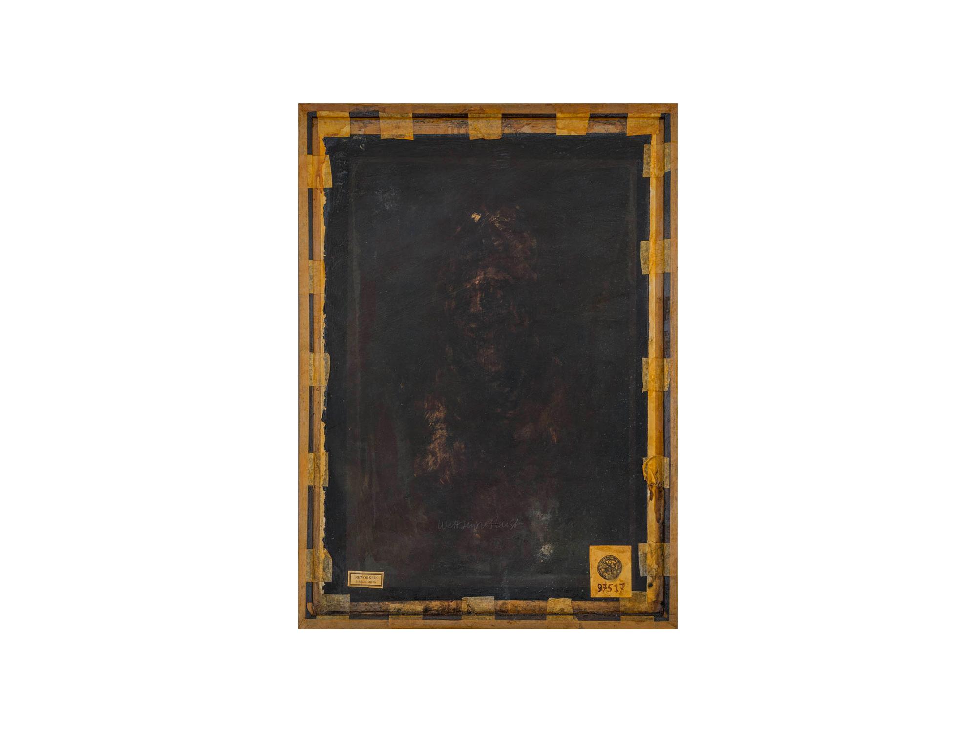 Bernard Sachs   Weltsinneslust , 2016 acrylic on screenprint on framed card 80 x 57cm   ARTIST BIO