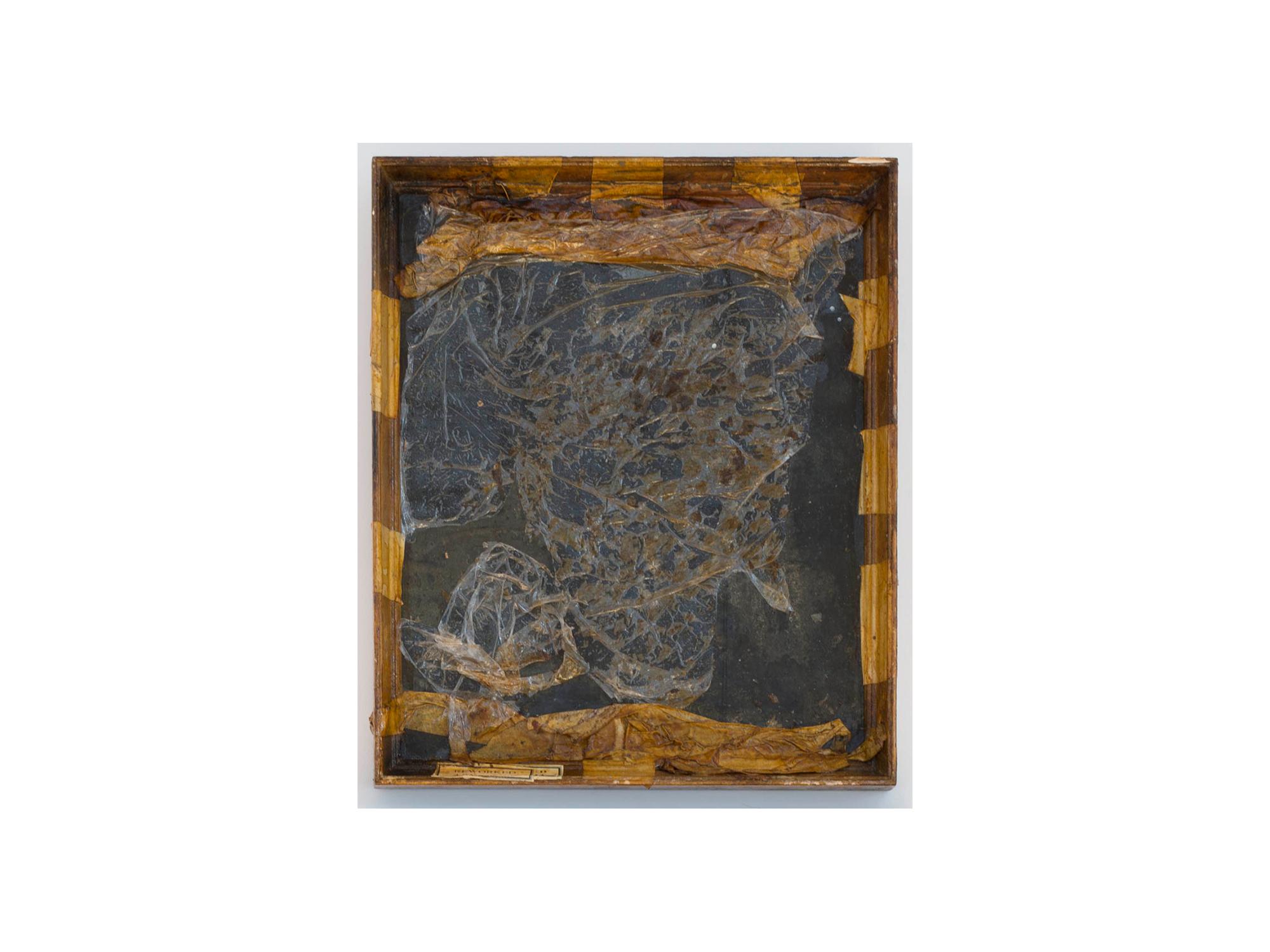 Bernard Sachs   Untitled (Weltsinneslust) , 2016 mixed media on framed photo paper 33 x 27cm   ARTIST BIO