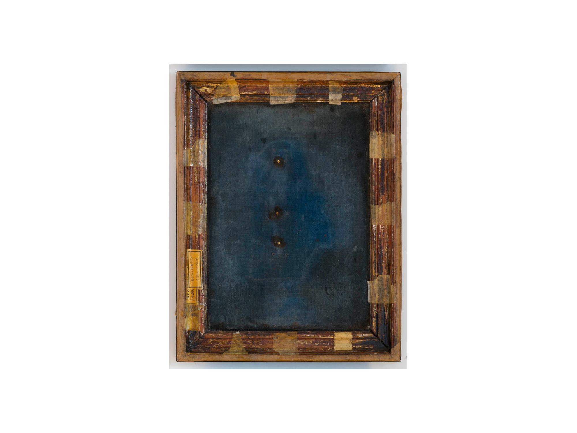 Bernard Sachs   Untitled (Weltsinneslust) , 2016 mixed media on framed velvet 38 x 30cm   ARTIST BIO