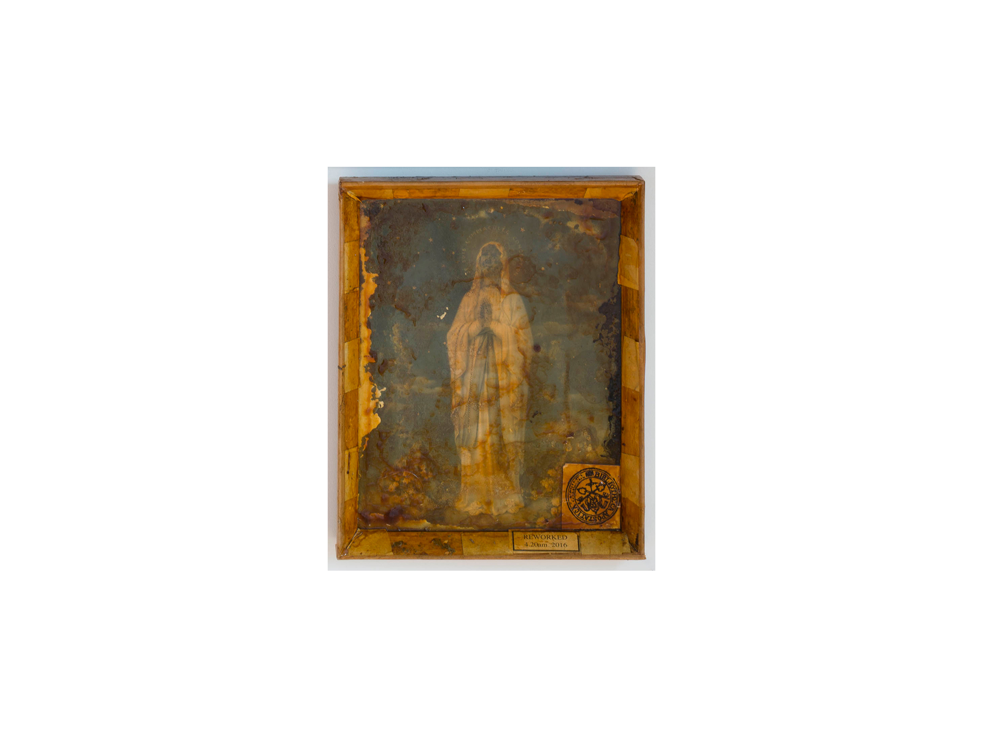 Bernard Sachs   Untitled (Weltsinneslust) , 2016 mixed media on framed photo paper 28 x 23cm   ARTIST BIO