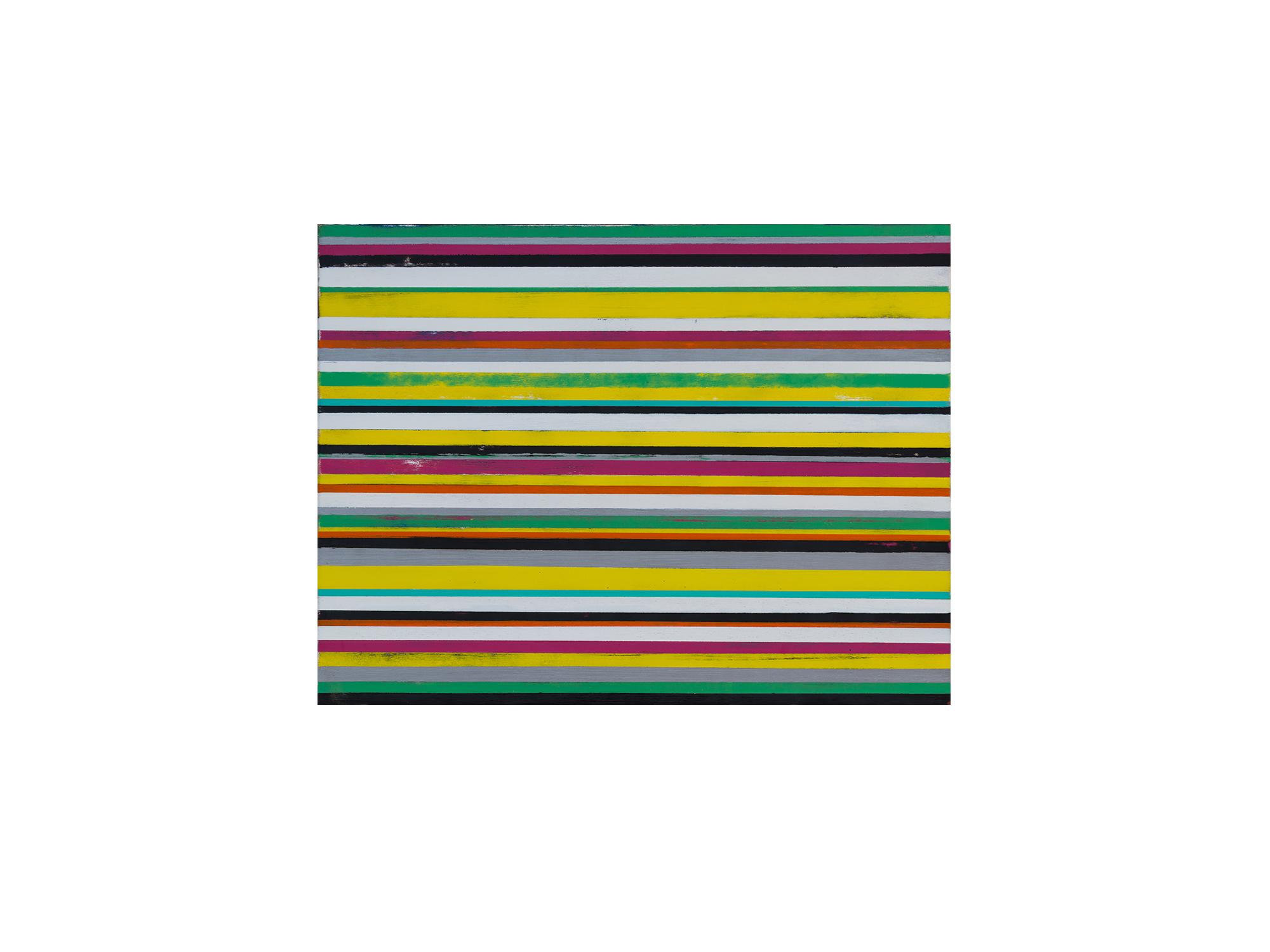 Brett McMahon   KL City 11 , 2017 acrylic and enamel on ply panel 60 x 80cm   ARTIST BIO