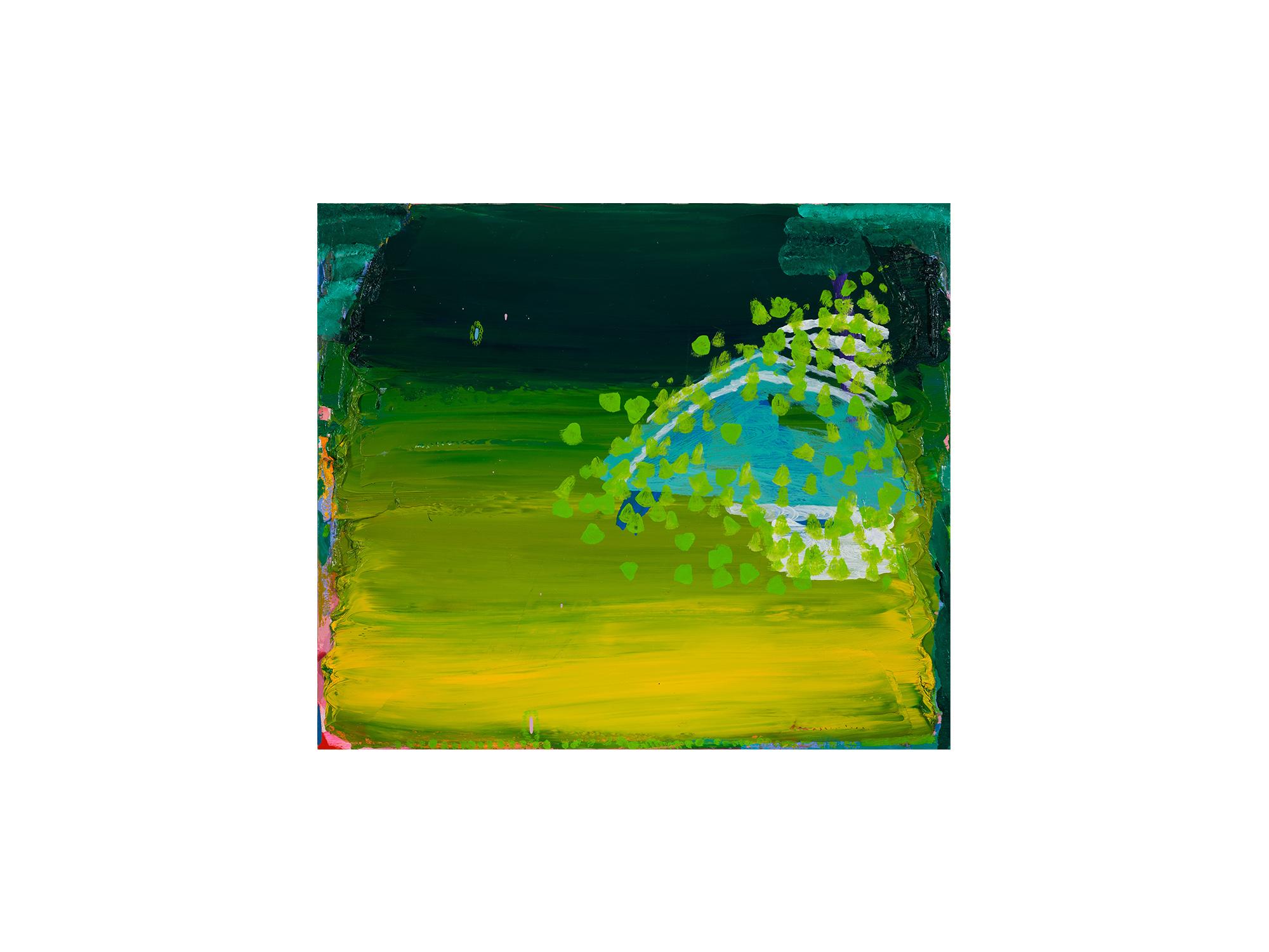 Miranda Skoczek   On the Side , 2016/17 oil on linen 64 x 74cm framed
