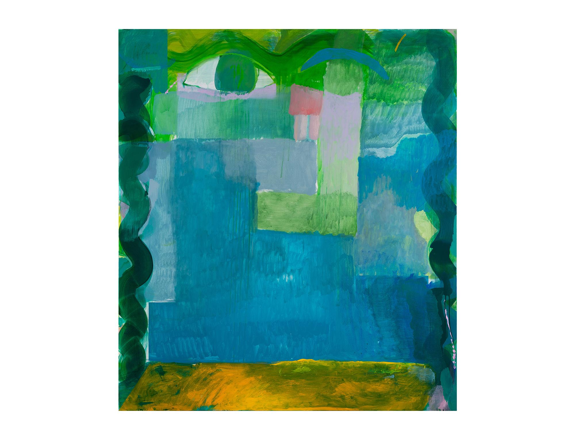 Miranda Skoczek   The Life in Front,  2017 oil on linen 156 x 140cm framed