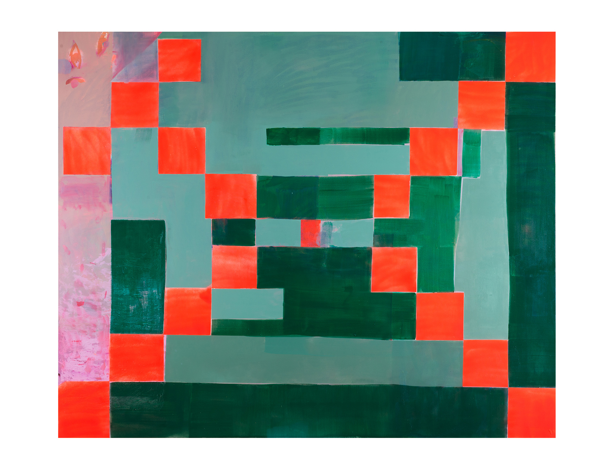 Miranda Skoczek   Martha Jane Pettway Quilt , 2017 oil and acrylic on linen 225 x 185cm