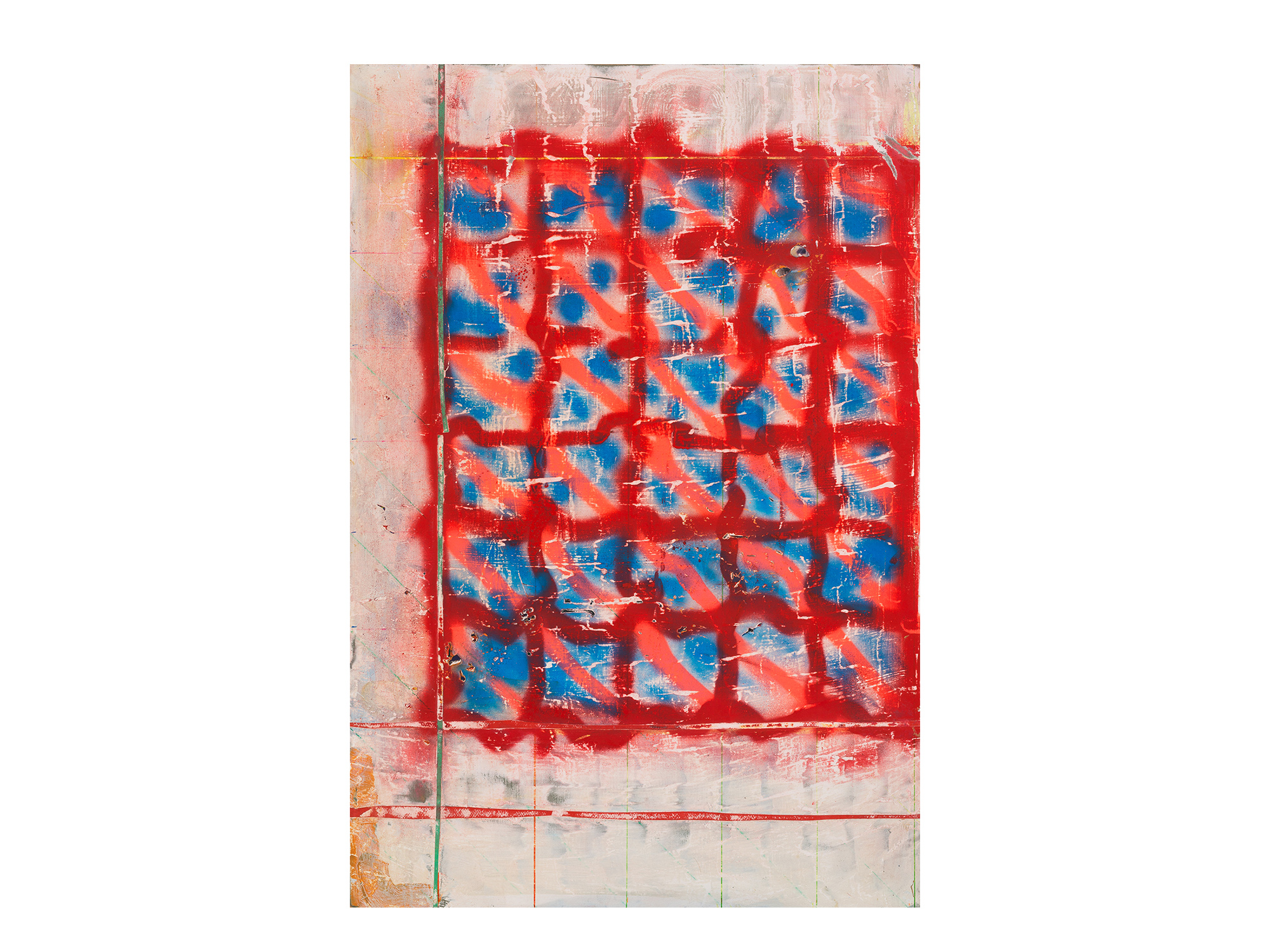 Tom Vincent   Sol Grid , 2017 acrylic, aerosol and paper on board 60 x 90cm   ARTIST BIO