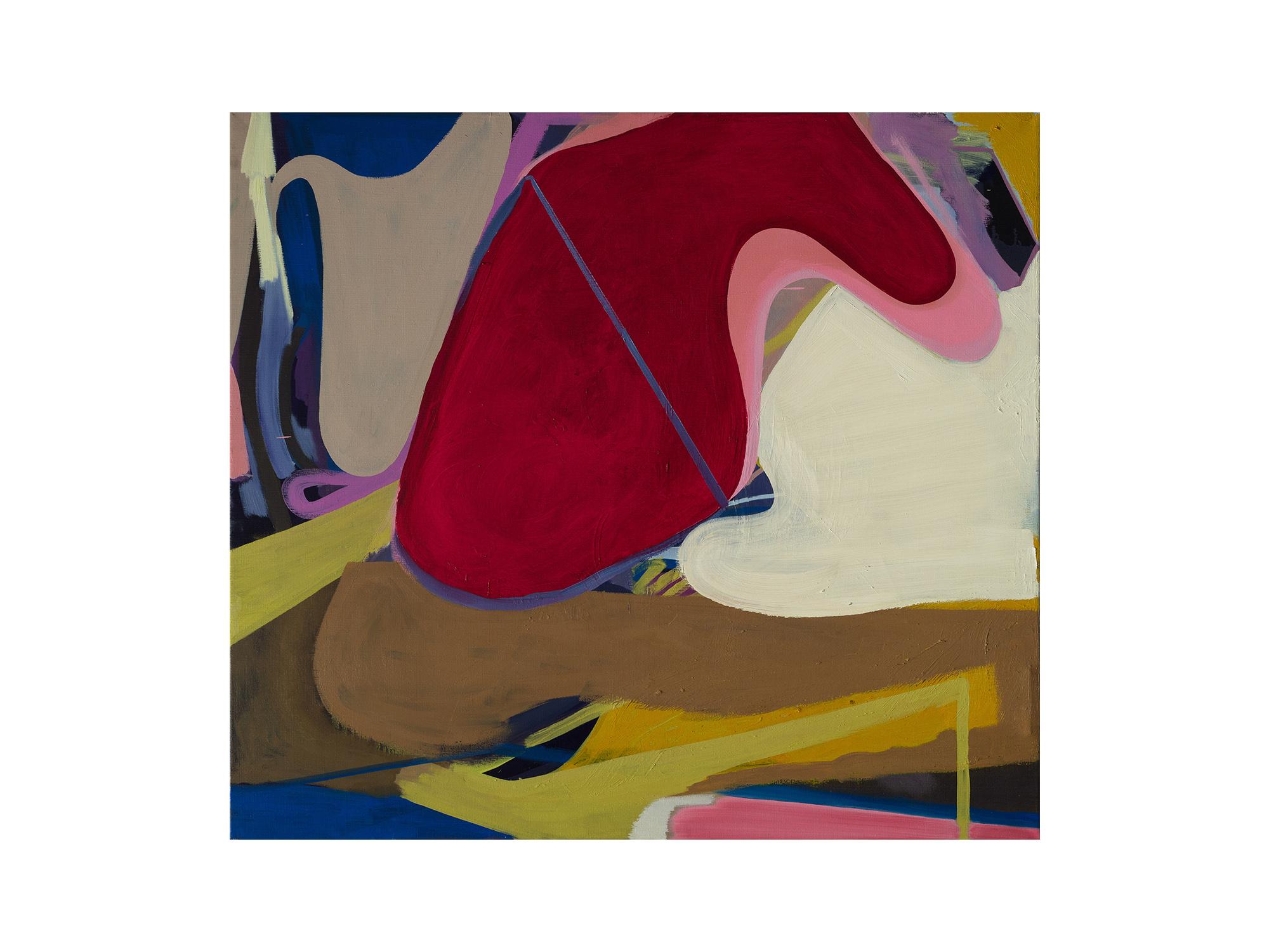 Julia Powles     Out , 2017 oil on canvas 113 x 124cm   ARTIST BIO