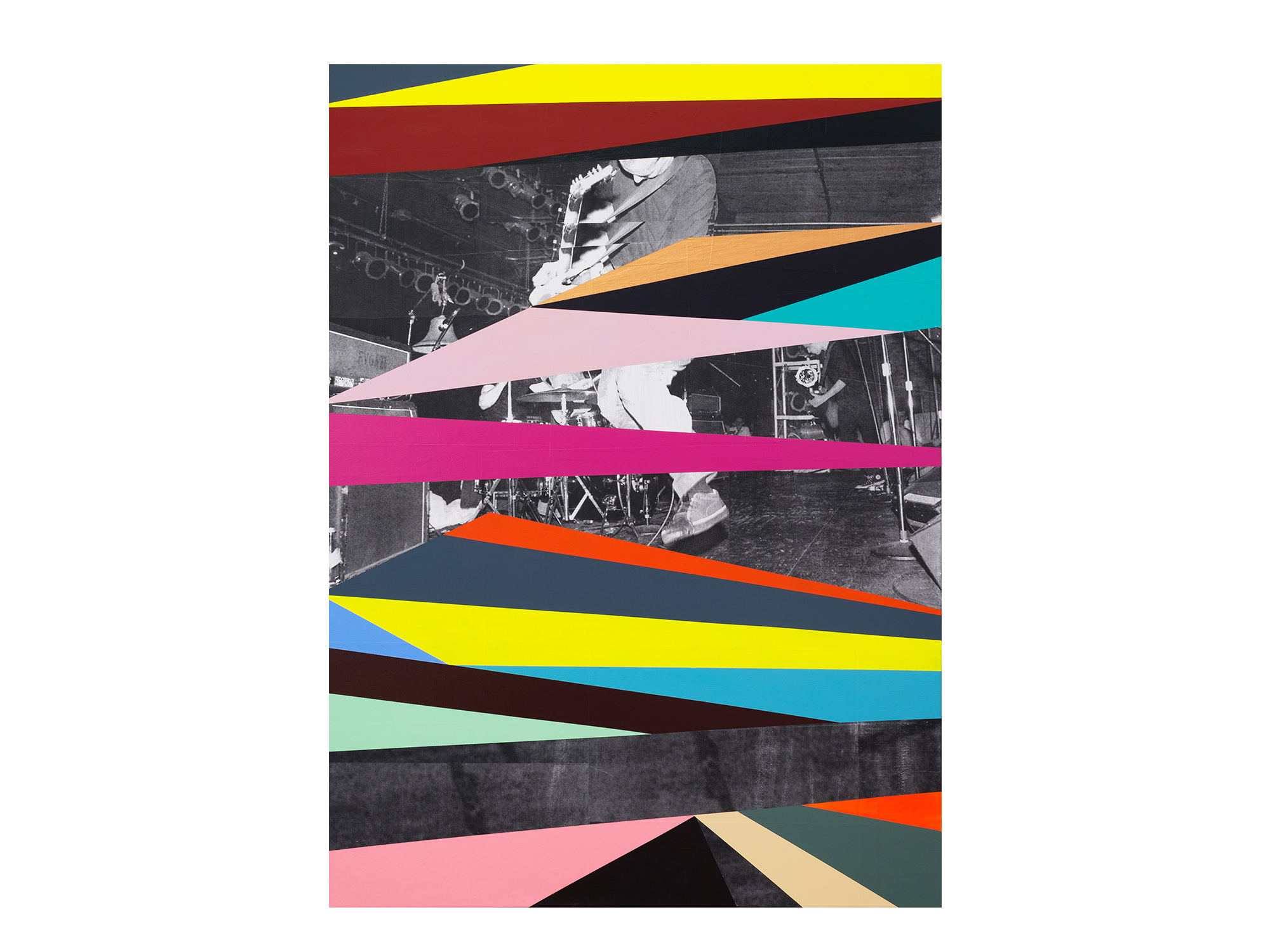 Kyle Jenkins   Position Point (Margin Walker) #74 , 2017 acrylic and paper on canvas 122 x 91 cm   ARTIST BIO