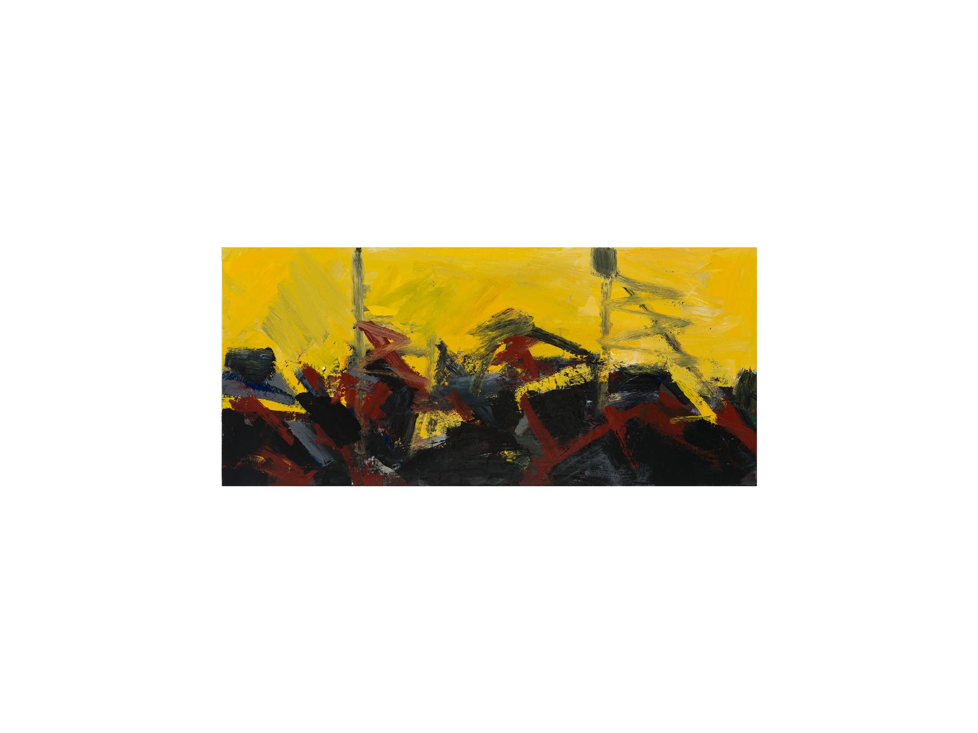 James Clayden   Bridge , 2016 enamel on board 27 x 60cm   ARTIST BIO