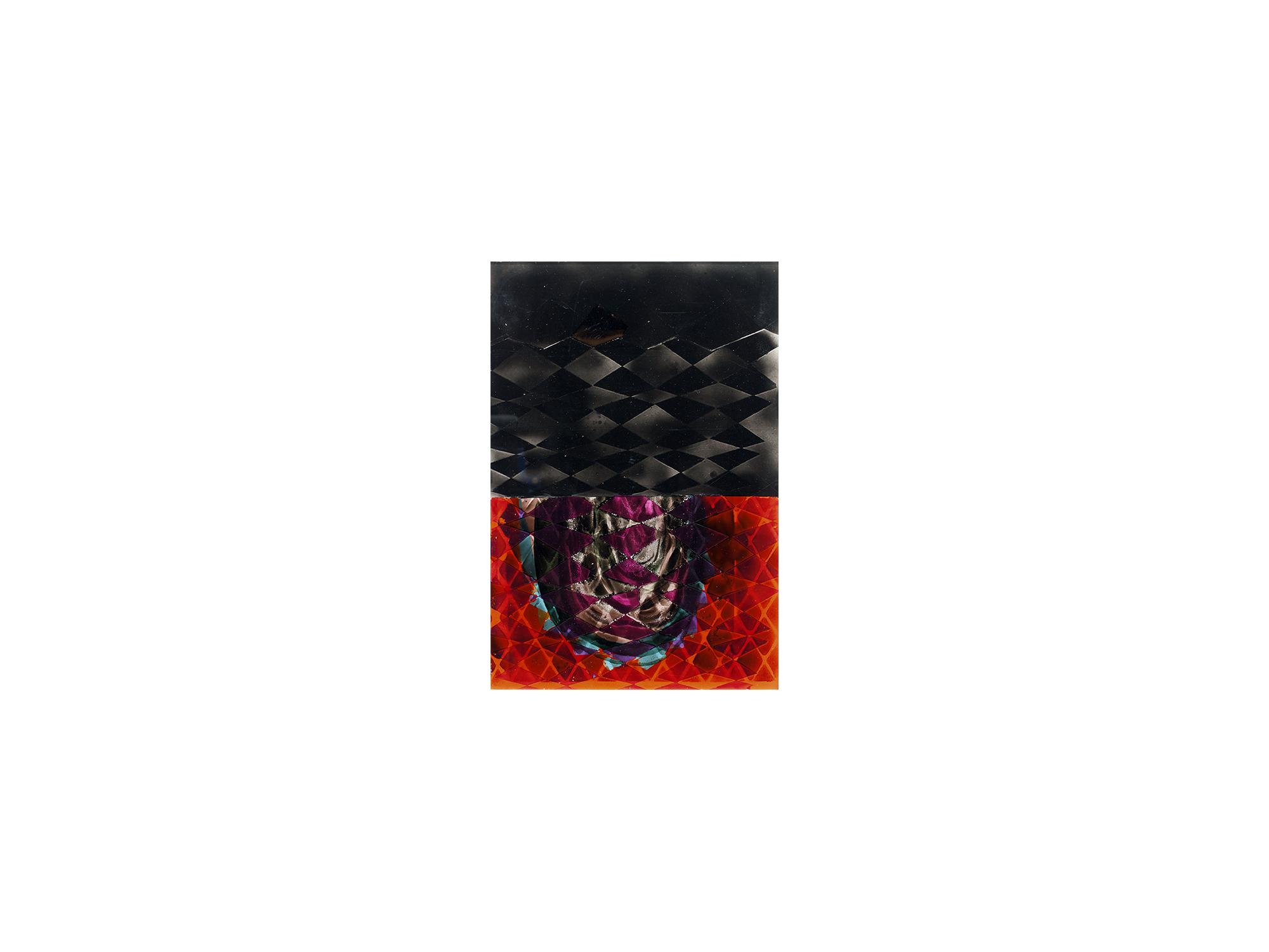 Michael Jäger   Bells #56 , 2015 acrylglas, oil, acrylic and lacquer on Dibond 39 x 26 cm