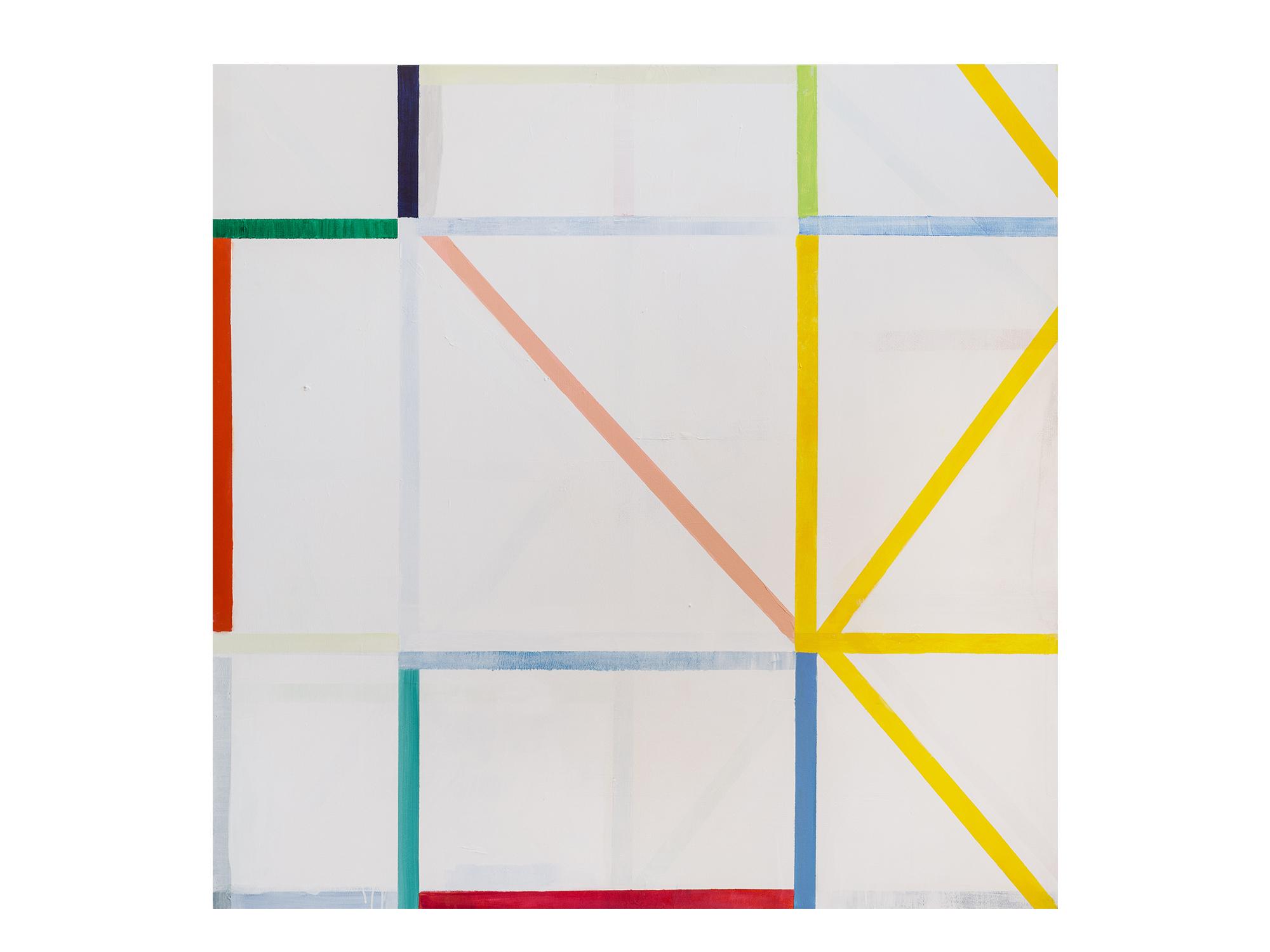 Antonia Sellbach   Unstable Object 33, 2018 acrylic polymer on linen 150 x 150cm