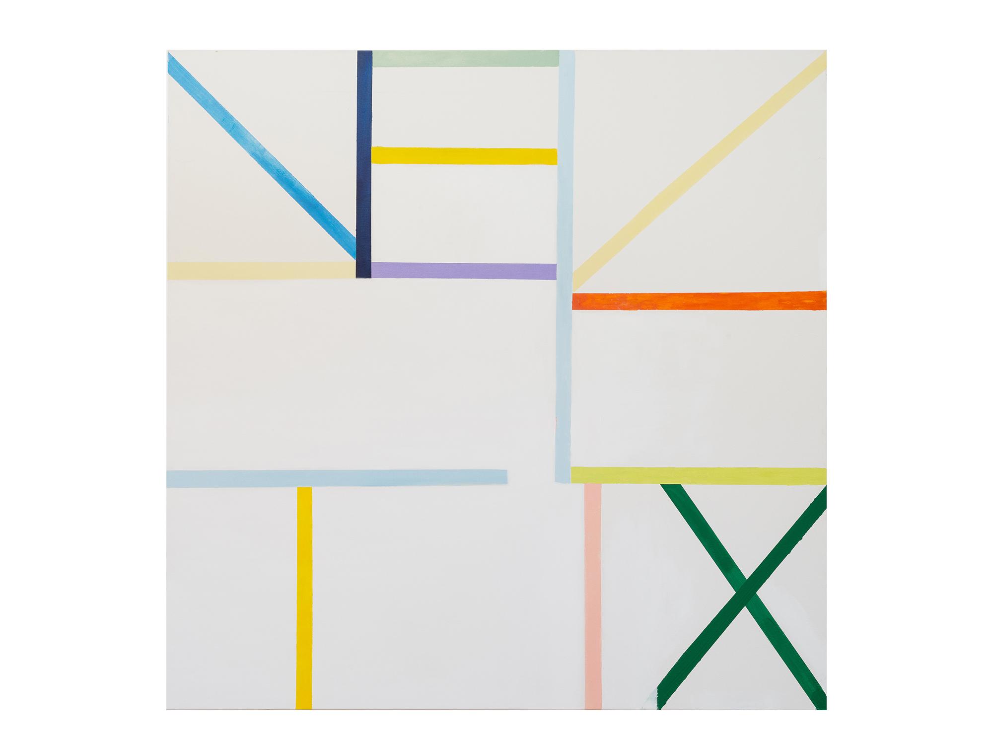 Antonia Sellbach   Unstable Object 31  , 2016 acrylic polymer on linen 150 x 150cm
