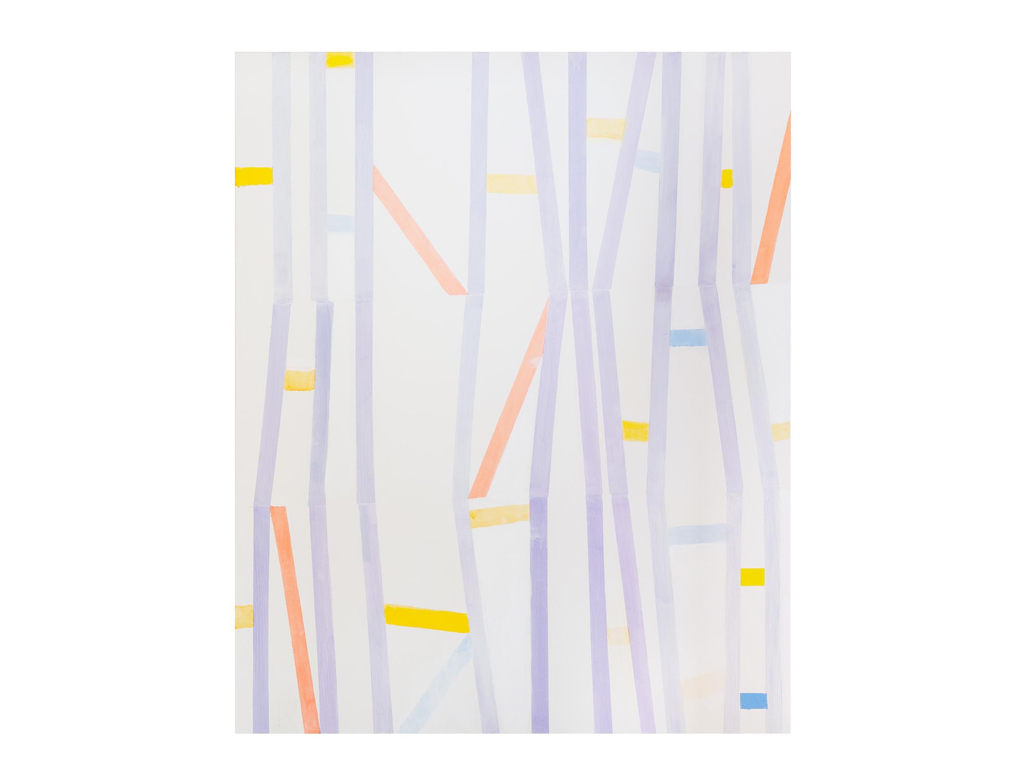 Antonia Sellbach   Kinetic Conversation 1, 2018 acrylic on linen 137 x 112cm
