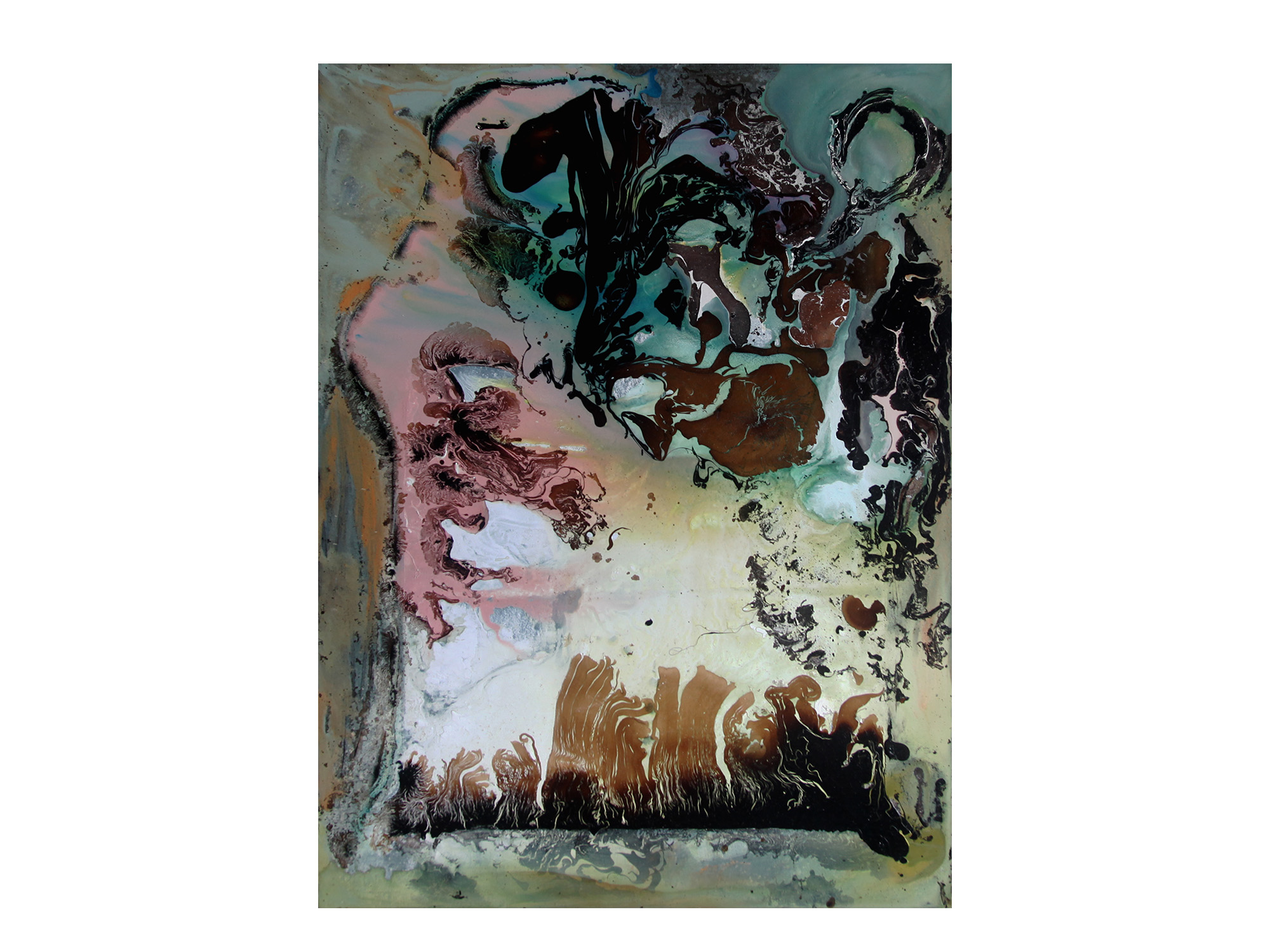 Eduardo Santos   Memories of Colours IX , 2018 oil, acrylic and natural pigment on canvas mounted on board 130 x 90cm   ARTIST BIO