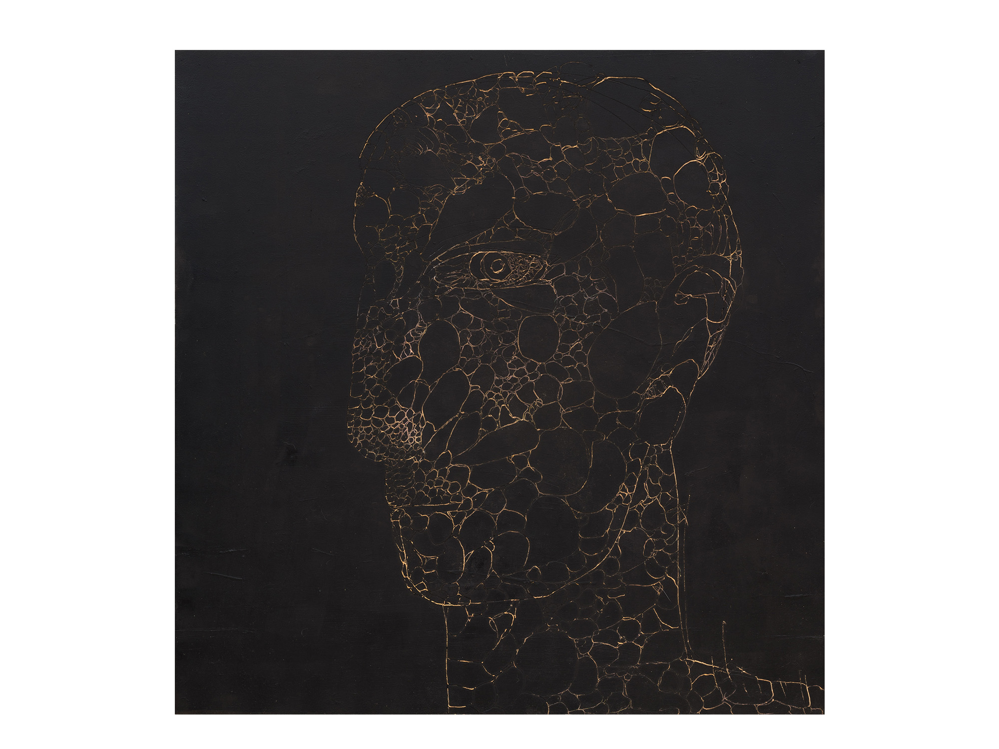 Robert Doble   Them They , 2018 oil on archival marine ply 120 x 122cm   ARTIST BIO