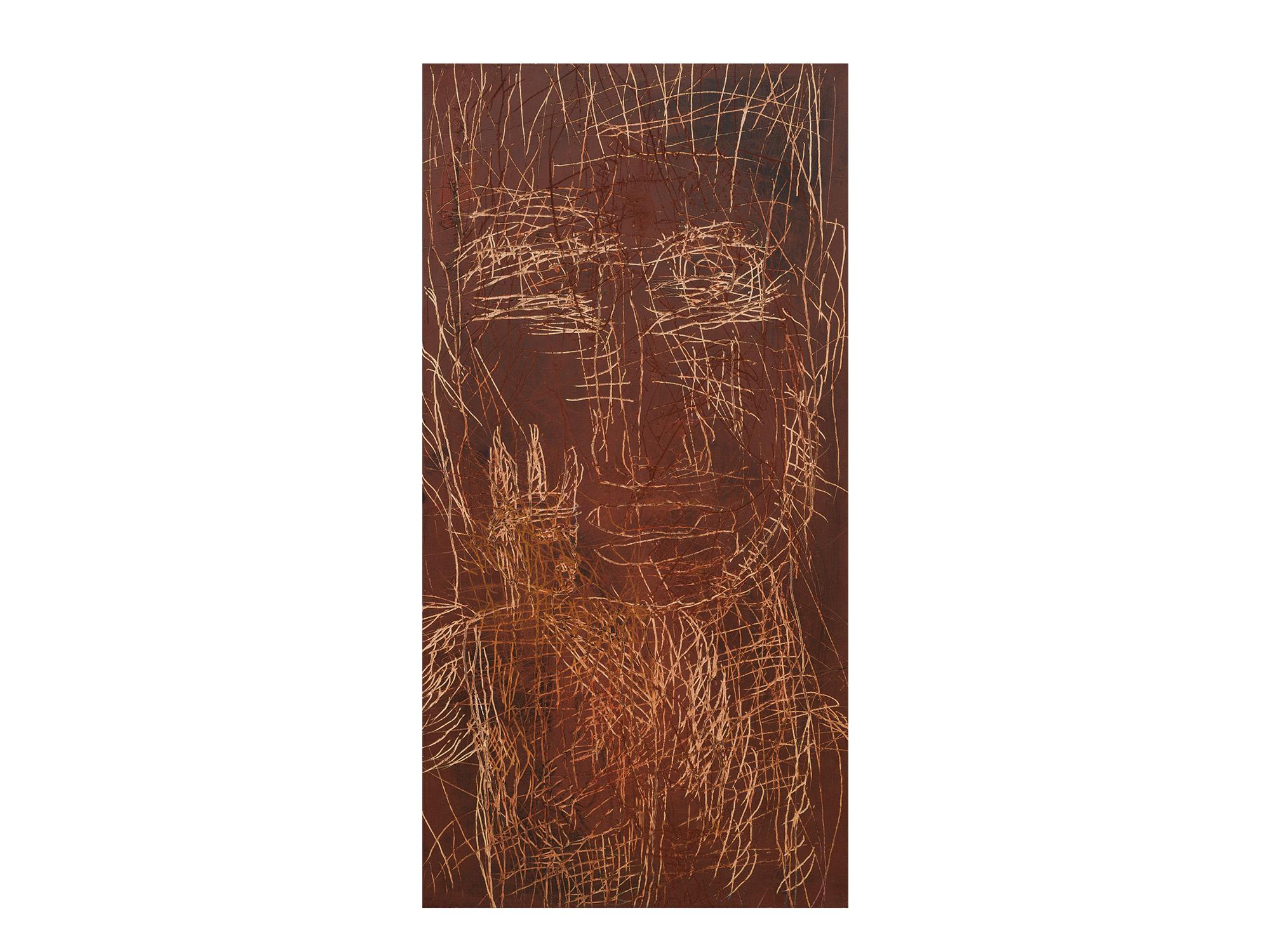 Robert Doble   Rising , 2018 oil on archival marine ply 122 x 61cm   ARTIST BIO