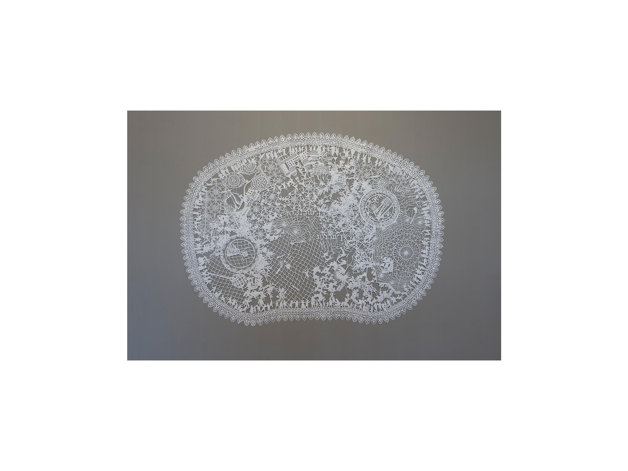Emma van Leest   Trousseau,      2015 Tyvek synthetic paper 135 x 185cm