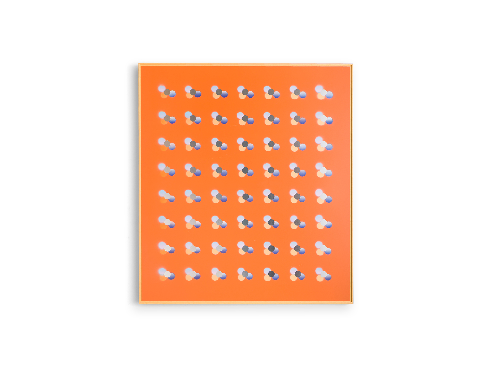 Will Cooke   True Romance , 2018 etch primer, gesso, acrylic on aluminium panel, artist's frame 92 x 82cm   ARTIST BIO
