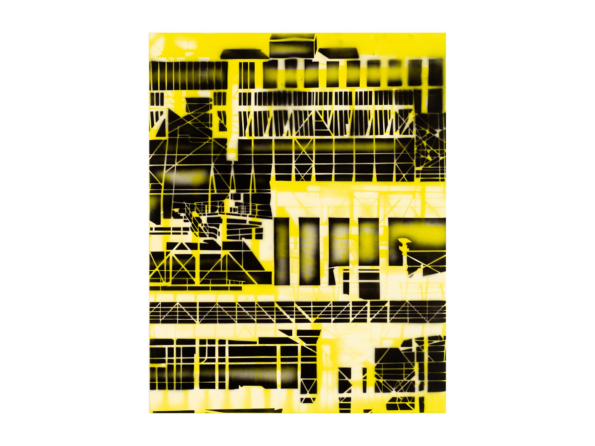 Louise Forthun   Zinc Roast ,   2018 acrylic on linen 110 x 86cm   ARTIST BIO