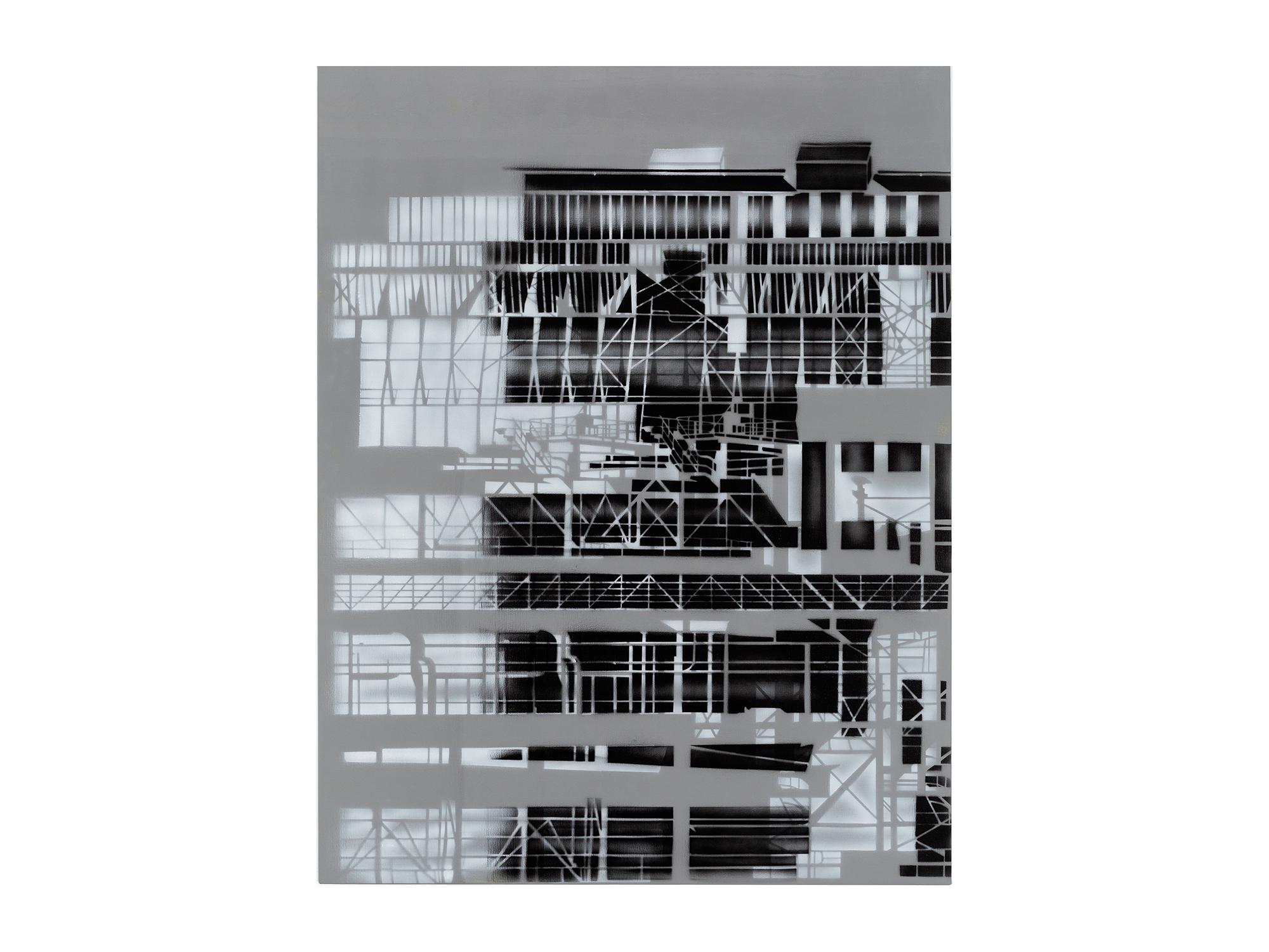 Louise Forthun   Double Zinc,  2018 acrylic on linen 150 x 116cm   ARTIST BIO