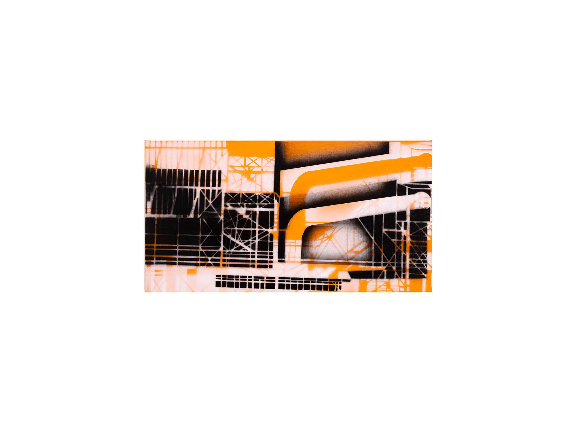 Louise Forthun   The Tilt,  2018 acrylic on linen 40 x 76cm   ARTIST BIO