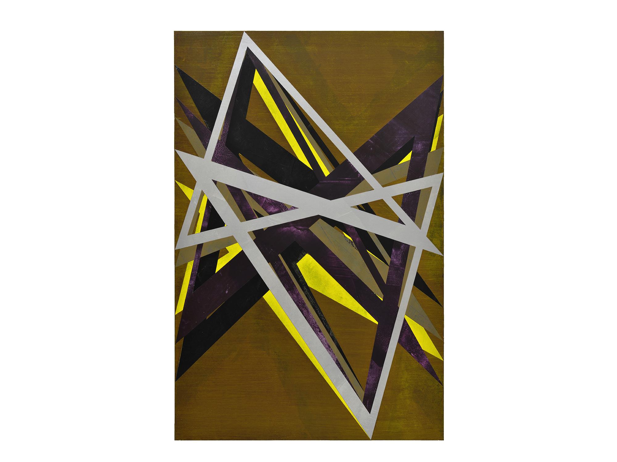 Justin Andrews   Fallen Angel , 2018  acrylic on braced panel 90 x 60cm   ARTIST BIO