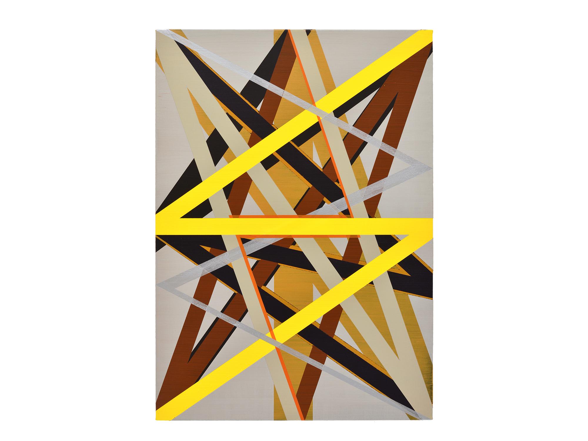 Justin Andrews   Resonance XVI , 2017 acrylic on braced canvas panel 84 x 60cm   ARTIST BIO