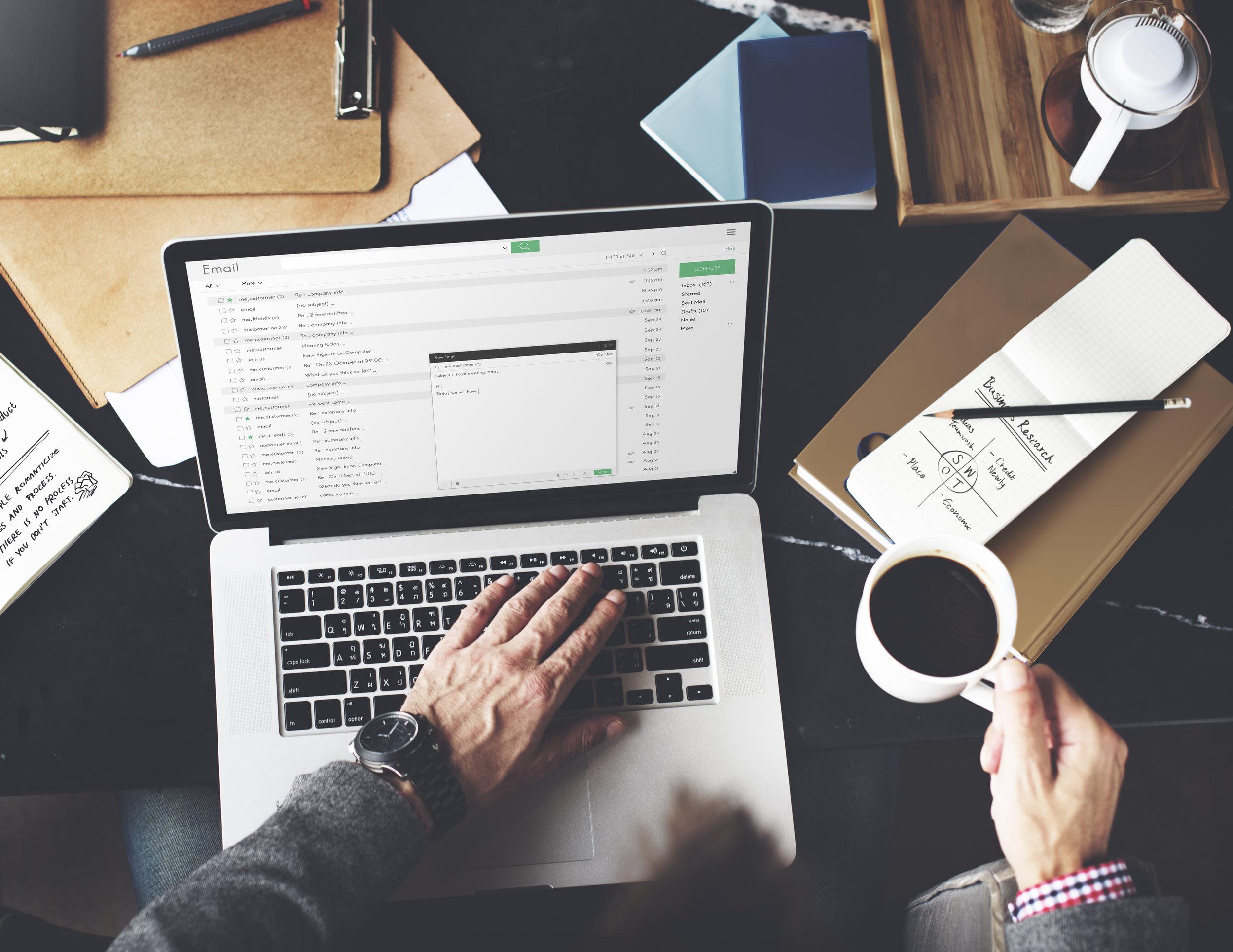 edit your emails - job applications