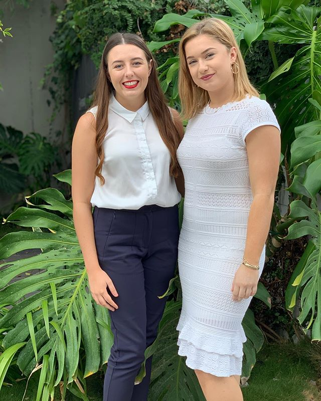 Who said girls in cream should never be seen... 😉 Abbi & Maddi doing their very best corporate recruitment look 🧥 #winning