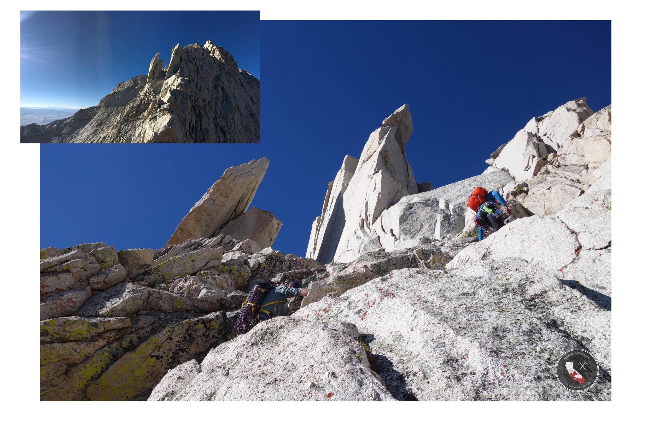 North Ridge of Lone Line Peak Sierra Nevada