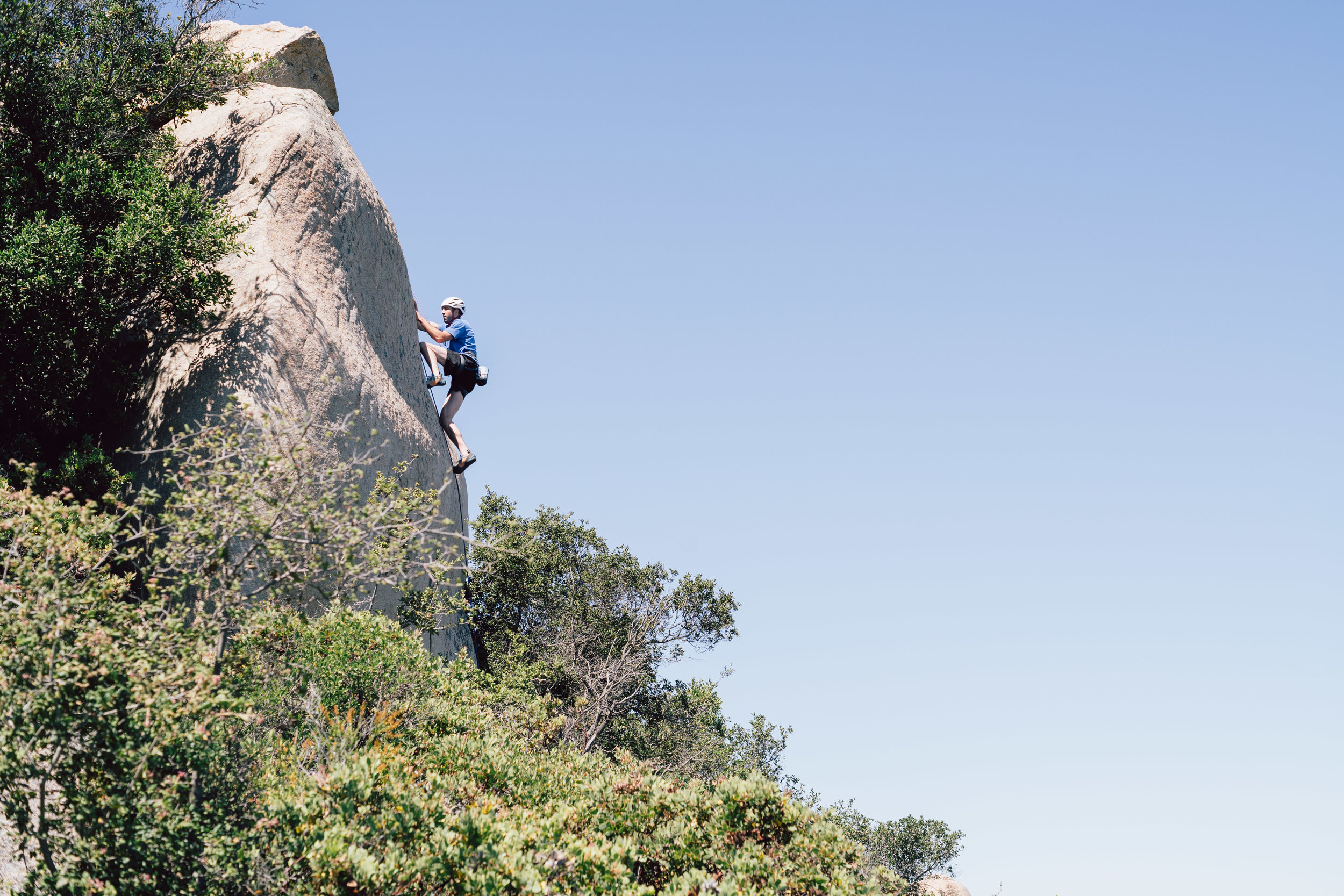Golden State Guiding Mt. Woodson Rock Climbing Out of Sight