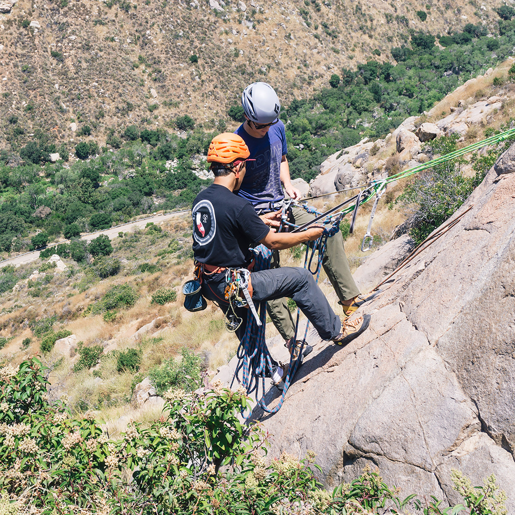 Rappelling Mission Gorge Rock Climbing San Diego Southern California