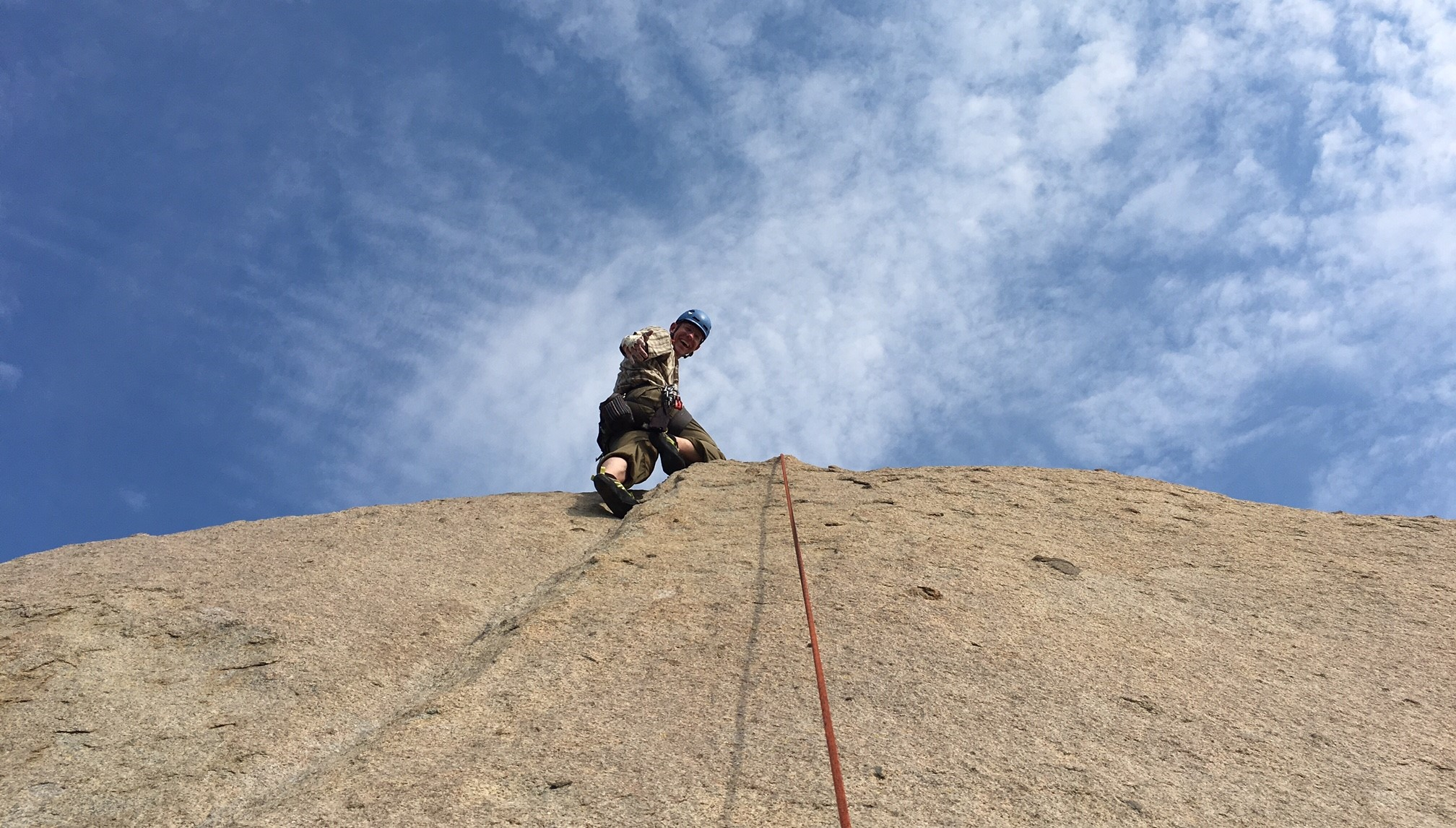 Mt. Woodson Rock Climbing Elsa's Crack, southern california
