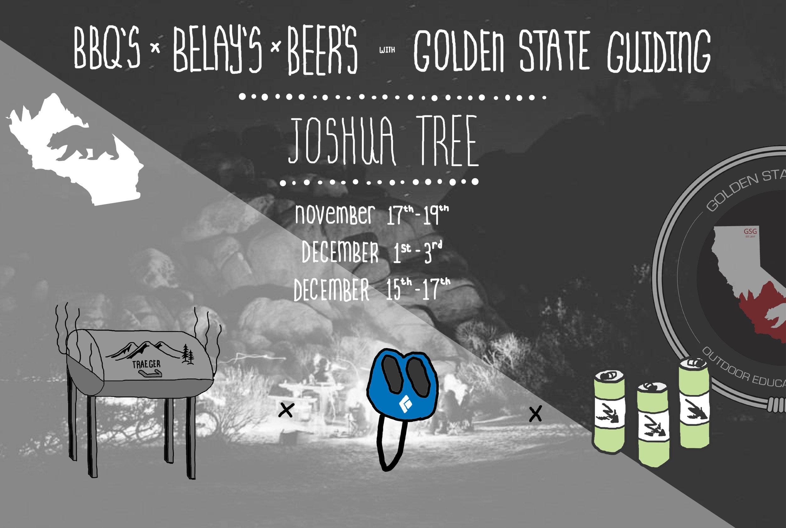 Joshua Tree Rock Climbing Event BBQ's x BELAY's x BEER's