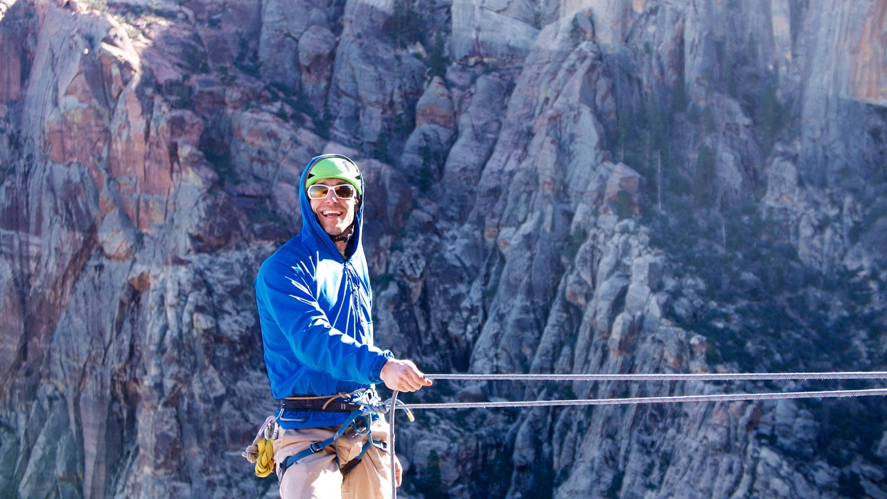 TJ Ciotti Rock Climbing Zion National Park