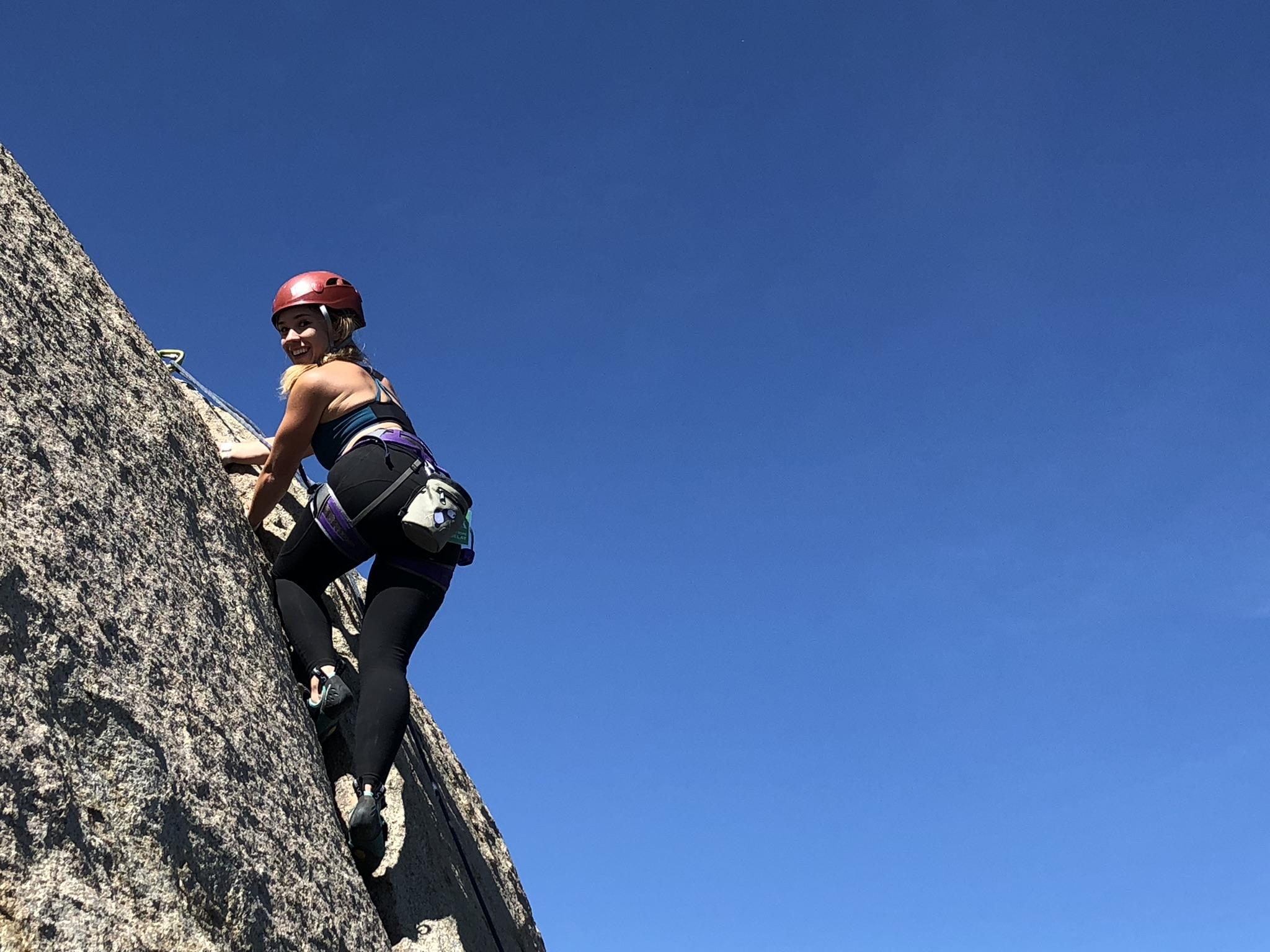 Katrina Kaw Rock Climbing Mount Woodson