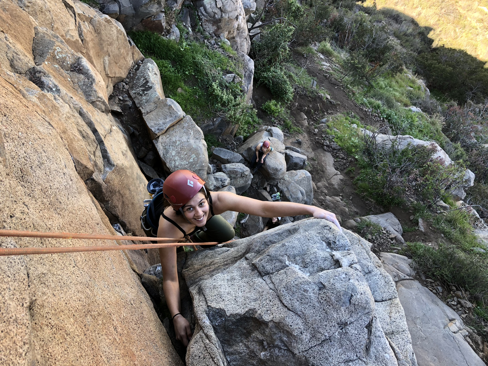 Julia Cupat Ladies Weekend Out Golden State Guiding Mission Gorge Rock Climbing